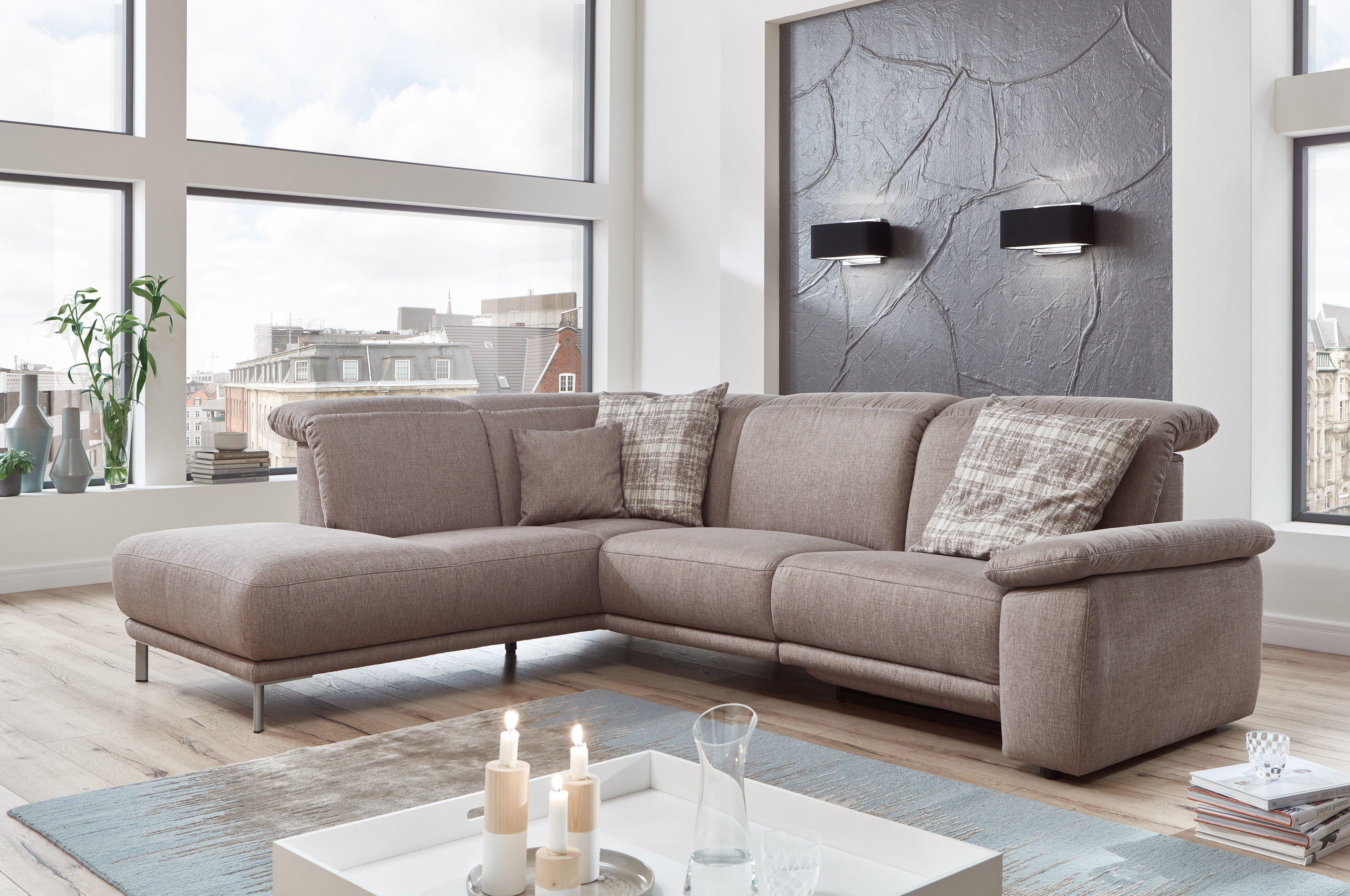 gruber polsterm bel roma polstergarnitur in hellbraun m bel letz ihr online shop. Black Bedroom Furniture Sets. Home Design Ideas