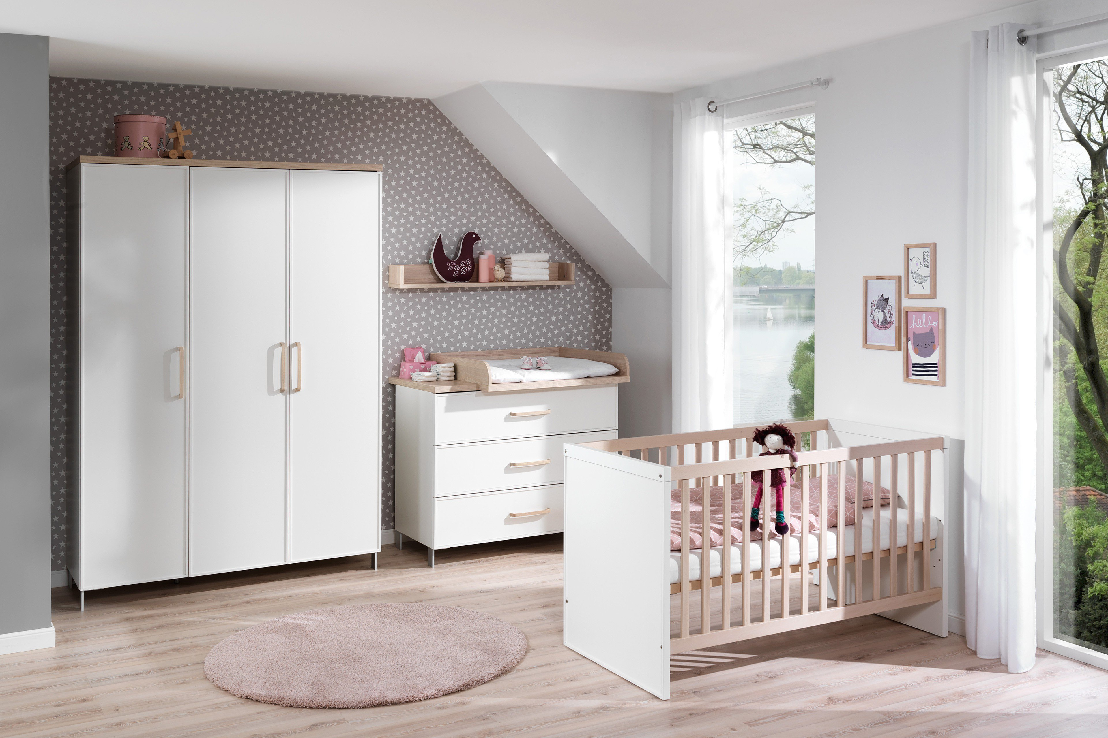 wellem bel babyzimmer enie wei esche m bel letz ihr online shop. Black Bedroom Furniture Sets. Home Design Ideas