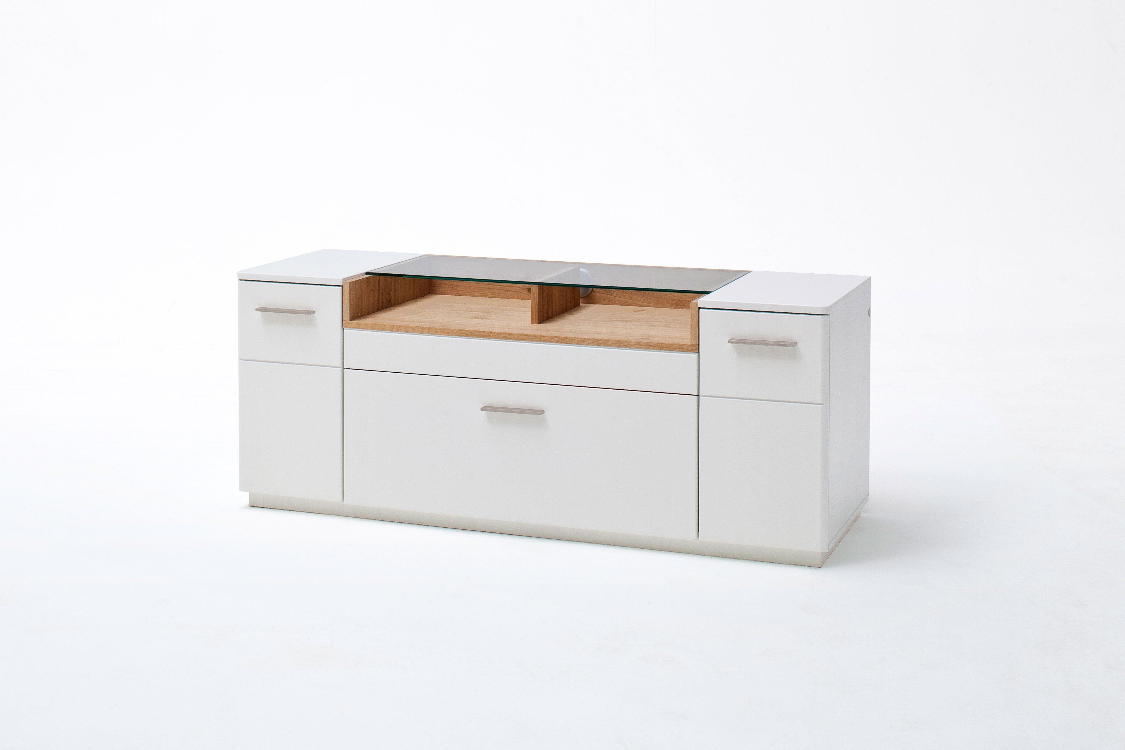 MCA Lowbaord Cesina weiß matt lackiert/ Asteiche | Möbel Letz - Ihr ...