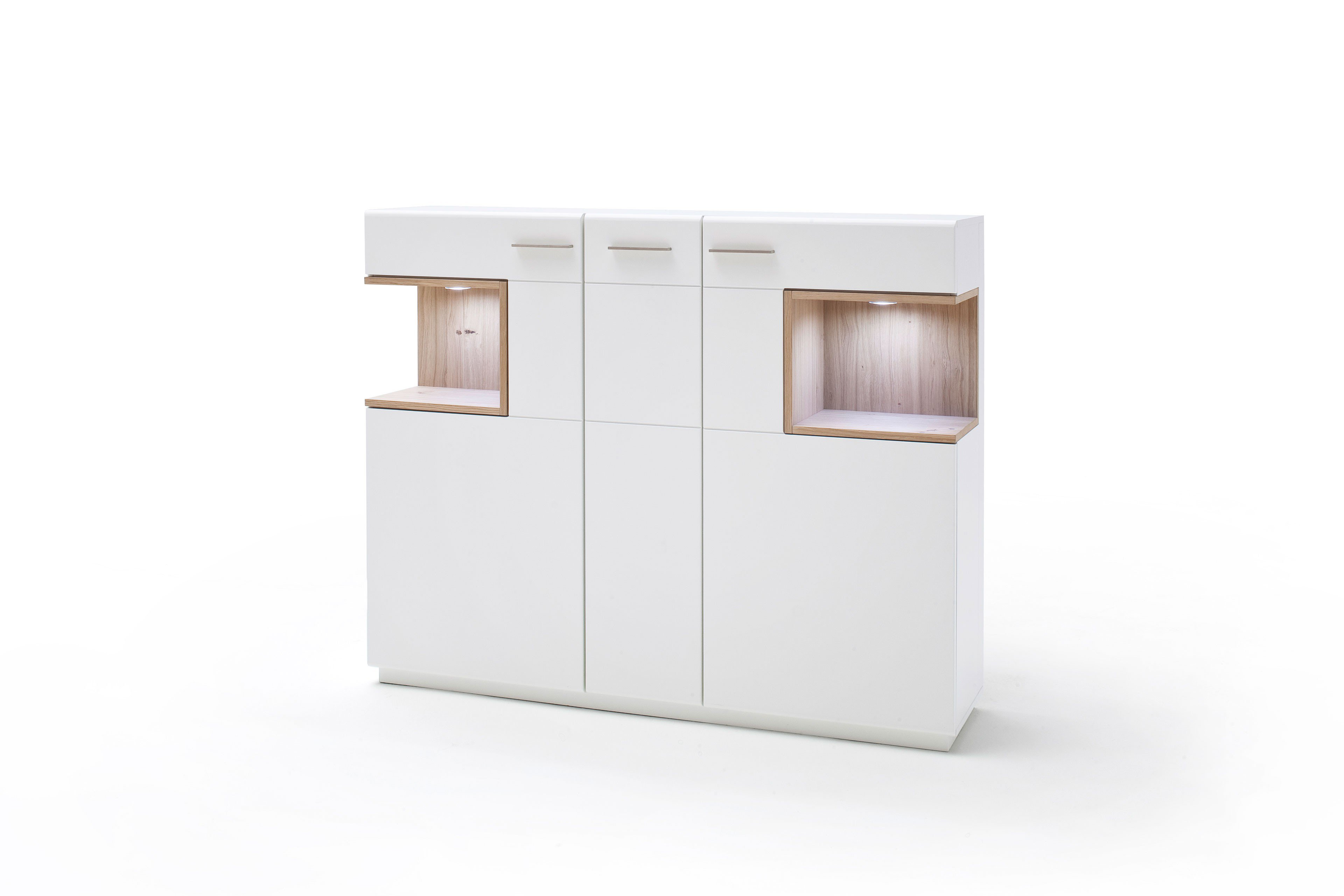 mca highboard cesina wei matt lackiert asteiche m bel letz ihr online shop. Black Bedroom Furniture Sets. Home Design Ideas