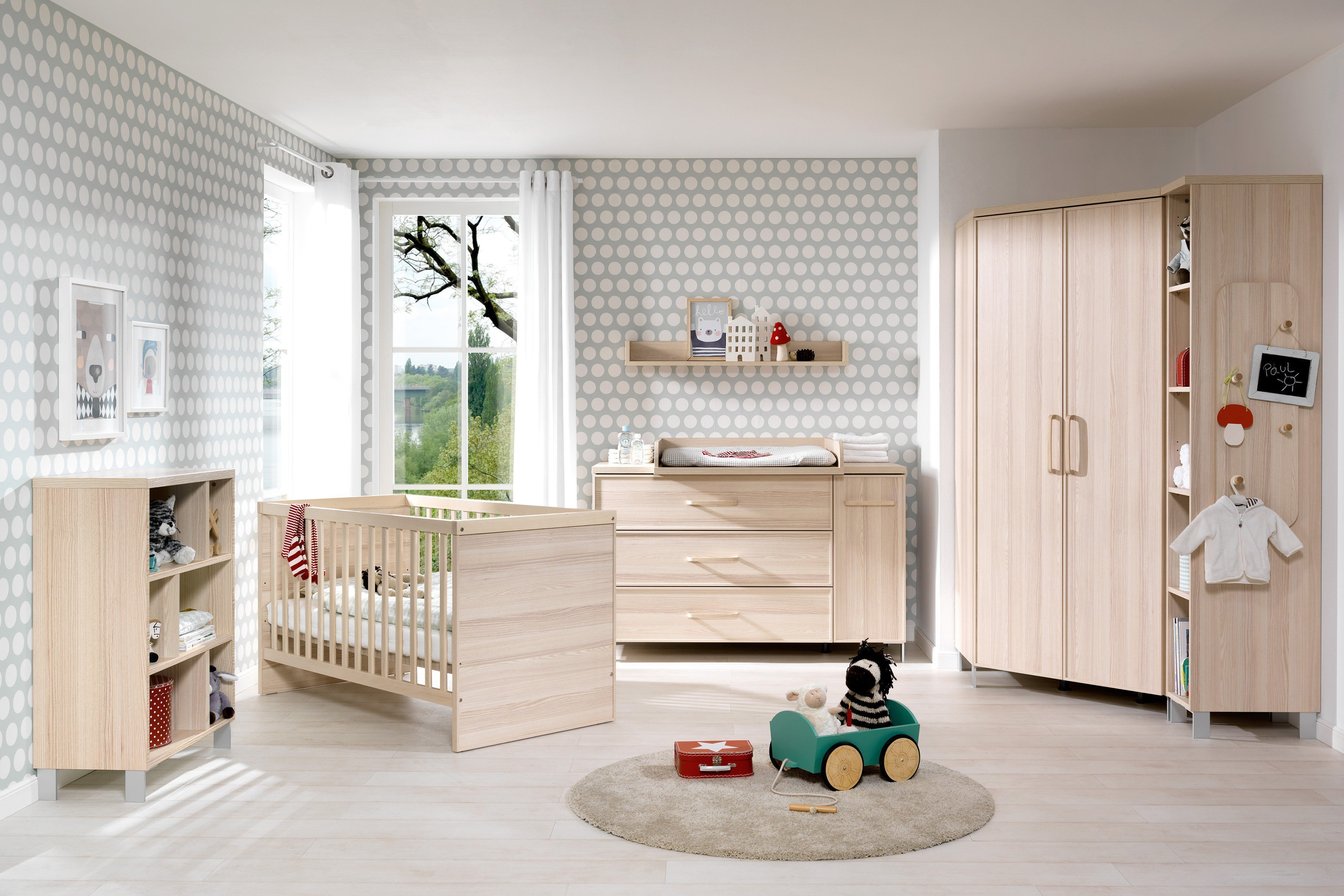 welle enie babyzimmer mit eckschrank esche m bel letz. Black Bedroom Furniture Sets. Home Design Ideas