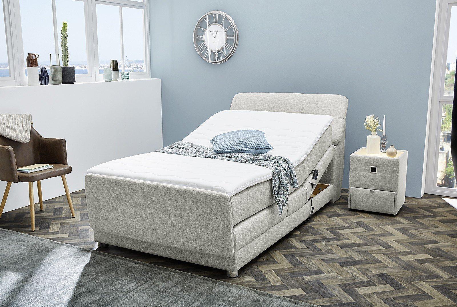 jockenh fer boxspringbett mona in grau 120 x 200 cm m bel letz ihr online shop. Black Bedroom Furniture Sets. Home Design Ideas