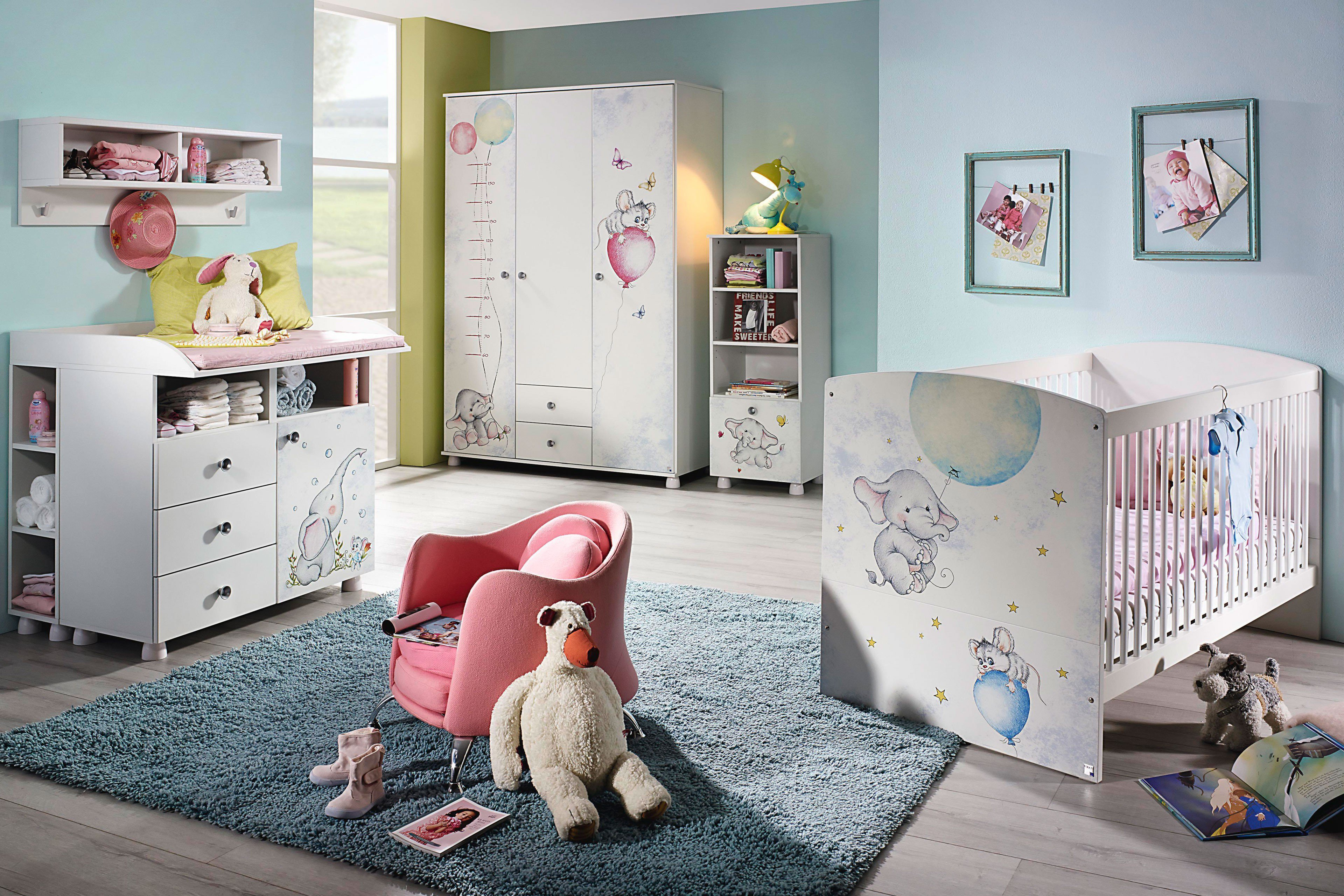 rauch babyzimmer jemma wei printdekor elefant m bel letz ihr online shop. Black Bedroom Furniture Sets. Home Design Ideas