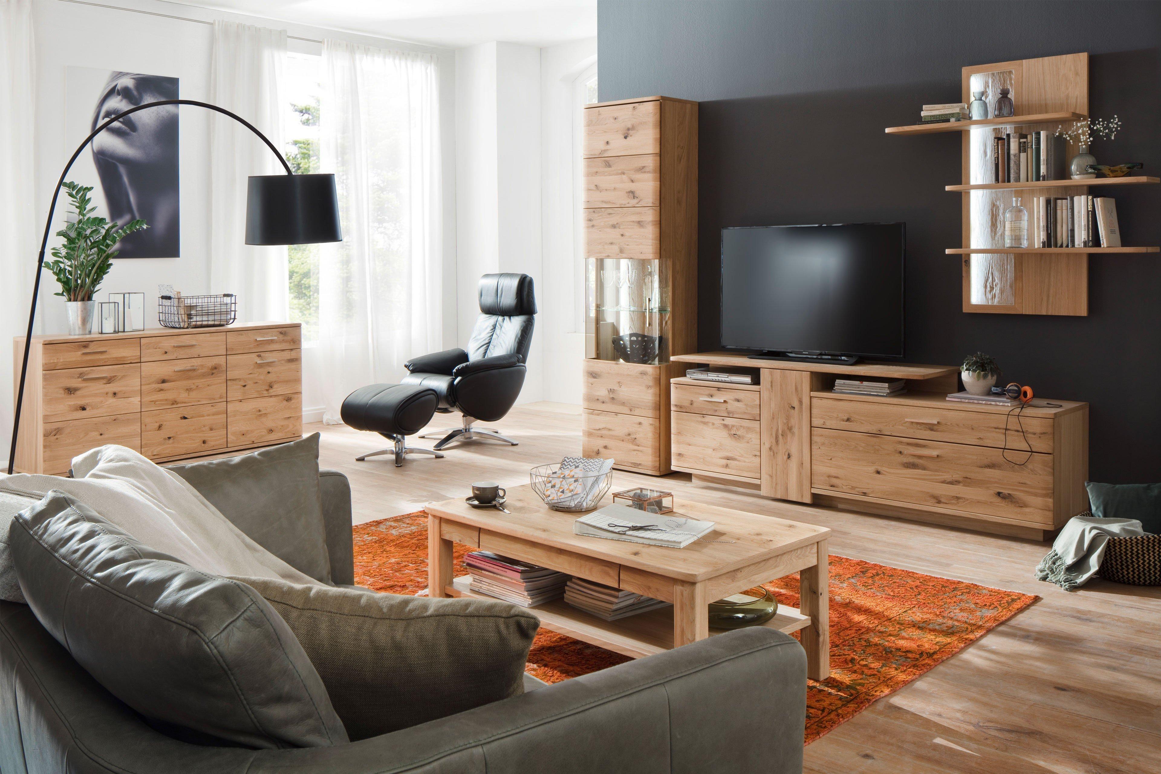 MCA Wohnwand Santori Asteiche Bianco | Möbel Letz - Ihr Online-Shop