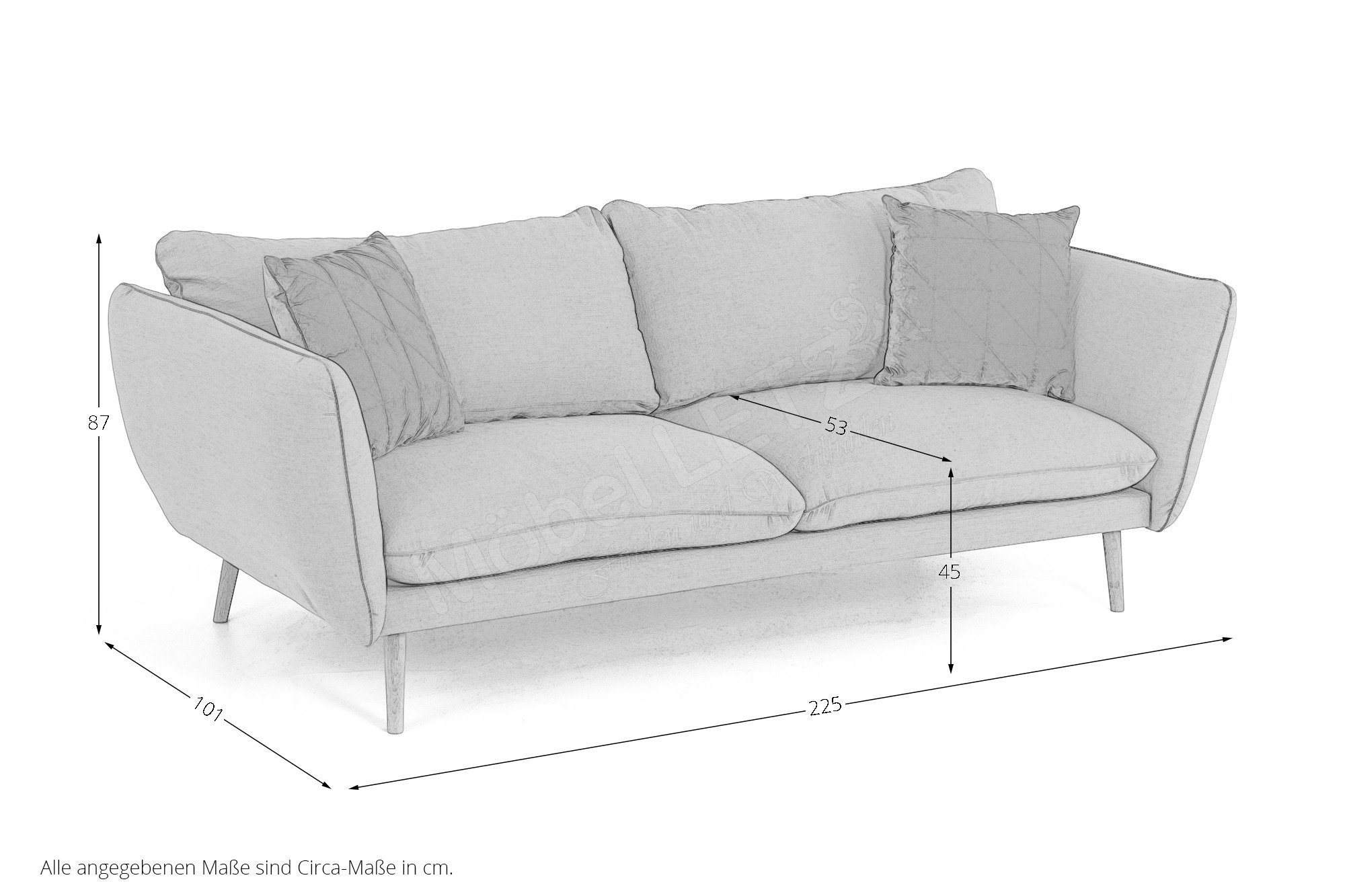 skandinavische m bel sander sofa in gr n m bel letz ihr online shop. Black Bedroom Furniture Sets. Home Design Ideas