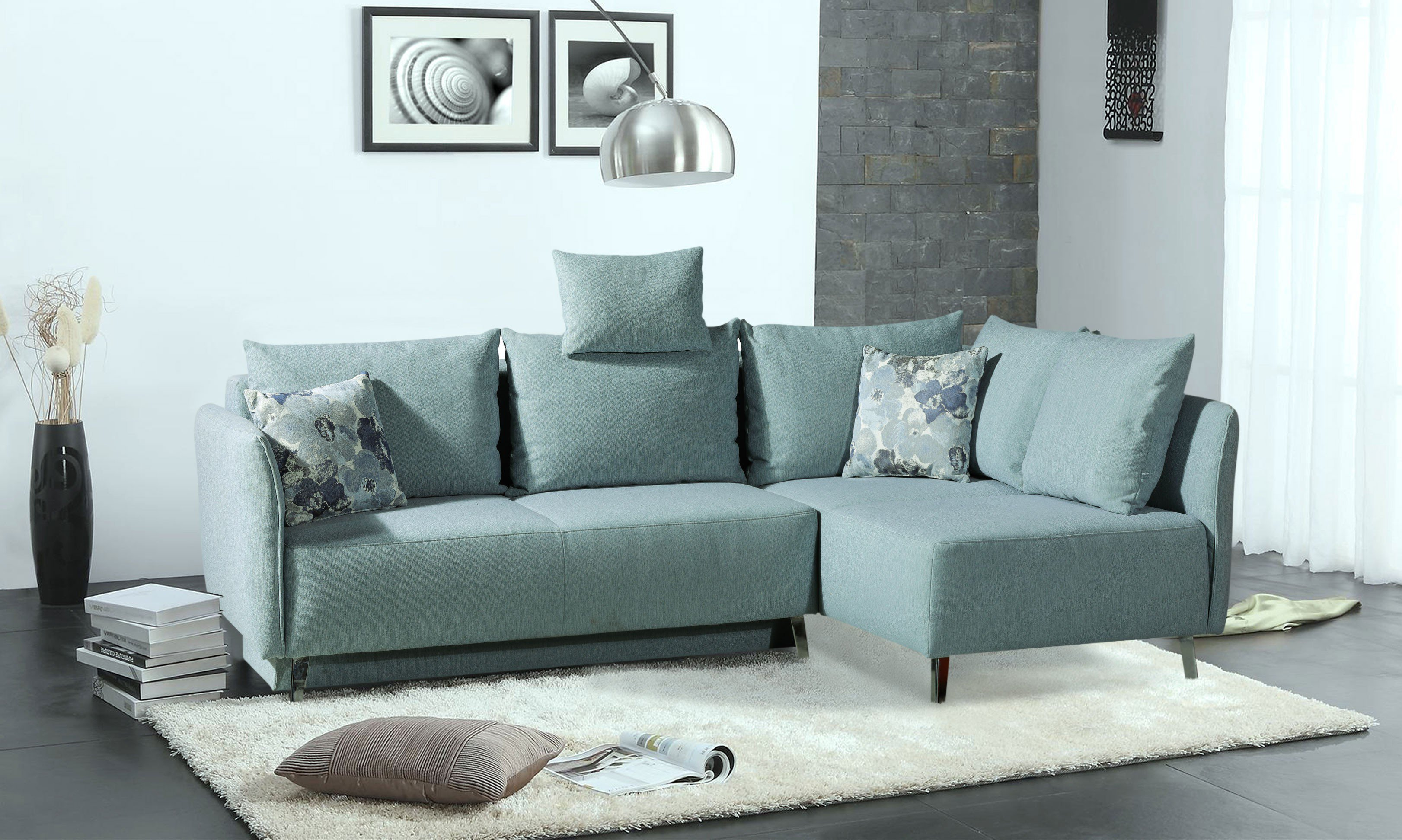 Astounding Couch Hellblau Foto Von Connie Von Restyl - Ecksofa