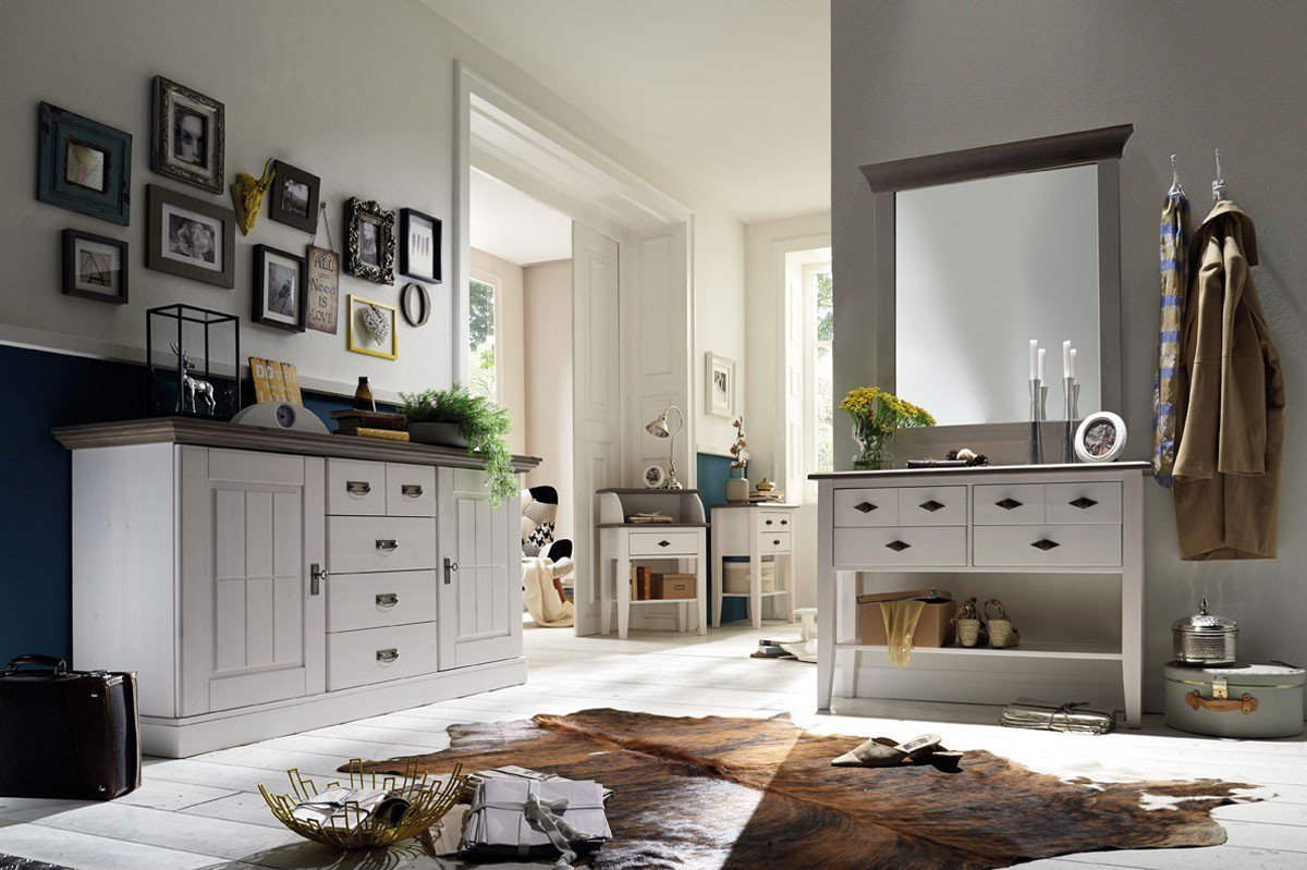 pure natur sideboard agnita kiefer wei grau m bel letz ihr online shop. Black Bedroom Furniture Sets. Home Design Ideas