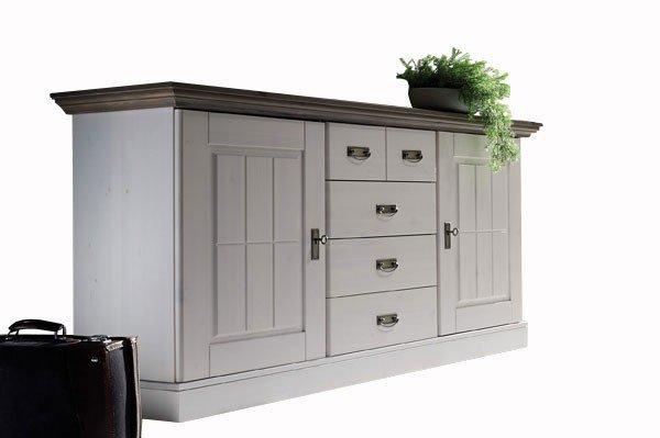 pure natur sideboard agnita kiefer wei grau m bel letz ihr online shop. Black Bedroom Furniture Sets. Home Design Ideas
