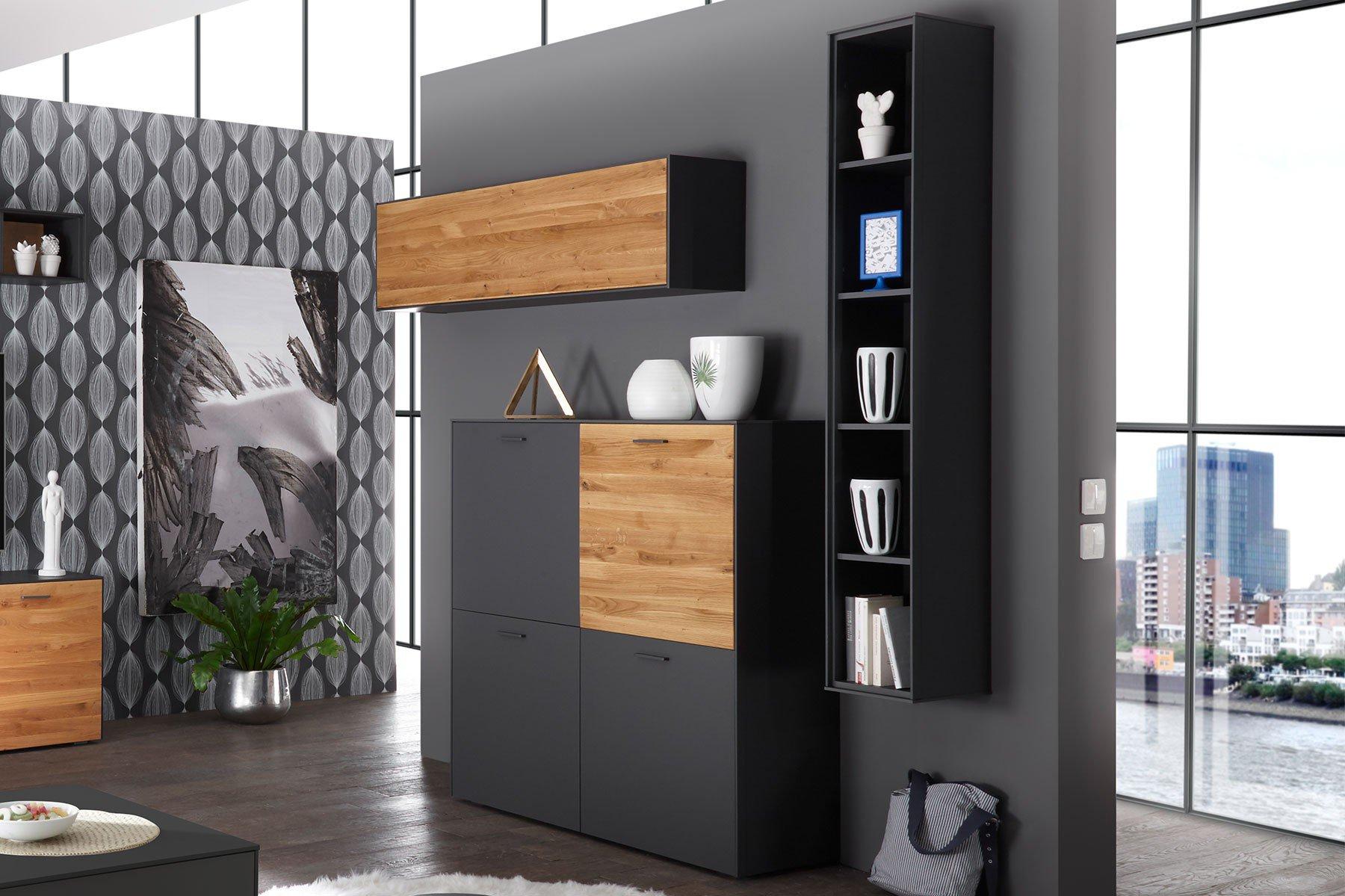 highboard ensemble arizona in anthrazit matt wildeiche ge lt von m usbacher m bel letz ihr. Black Bedroom Furniture Sets. Home Design Ideas