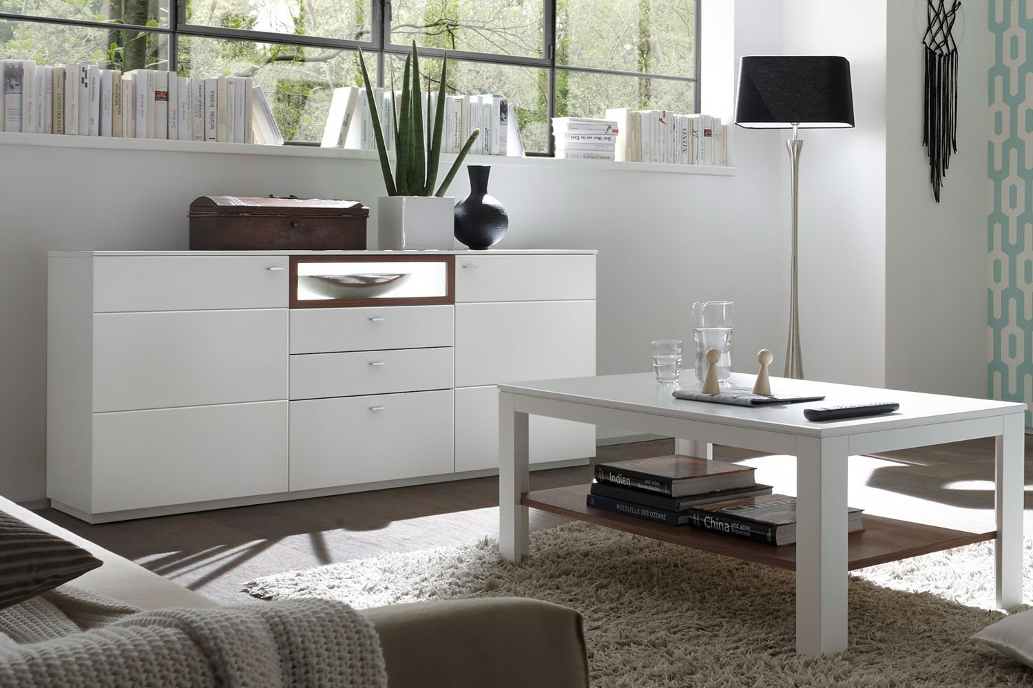 quadrato sideboard milano wei nussbaum m bel letz ihr online shop. Black Bedroom Furniture Sets. Home Design Ideas
