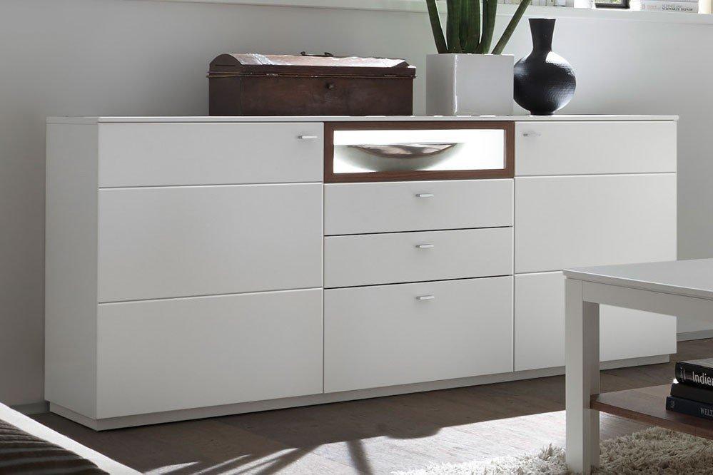 quadrato sideboard milano wei nussbaum m bel letz. Black Bedroom Furniture Sets. Home Design Ideas