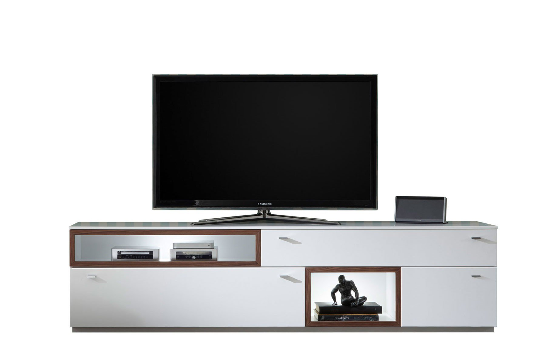 quadrato lowboard milano wei nussbaum m bel letz ihr online shop. Black Bedroom Furniture Sets. Home Design Ideas