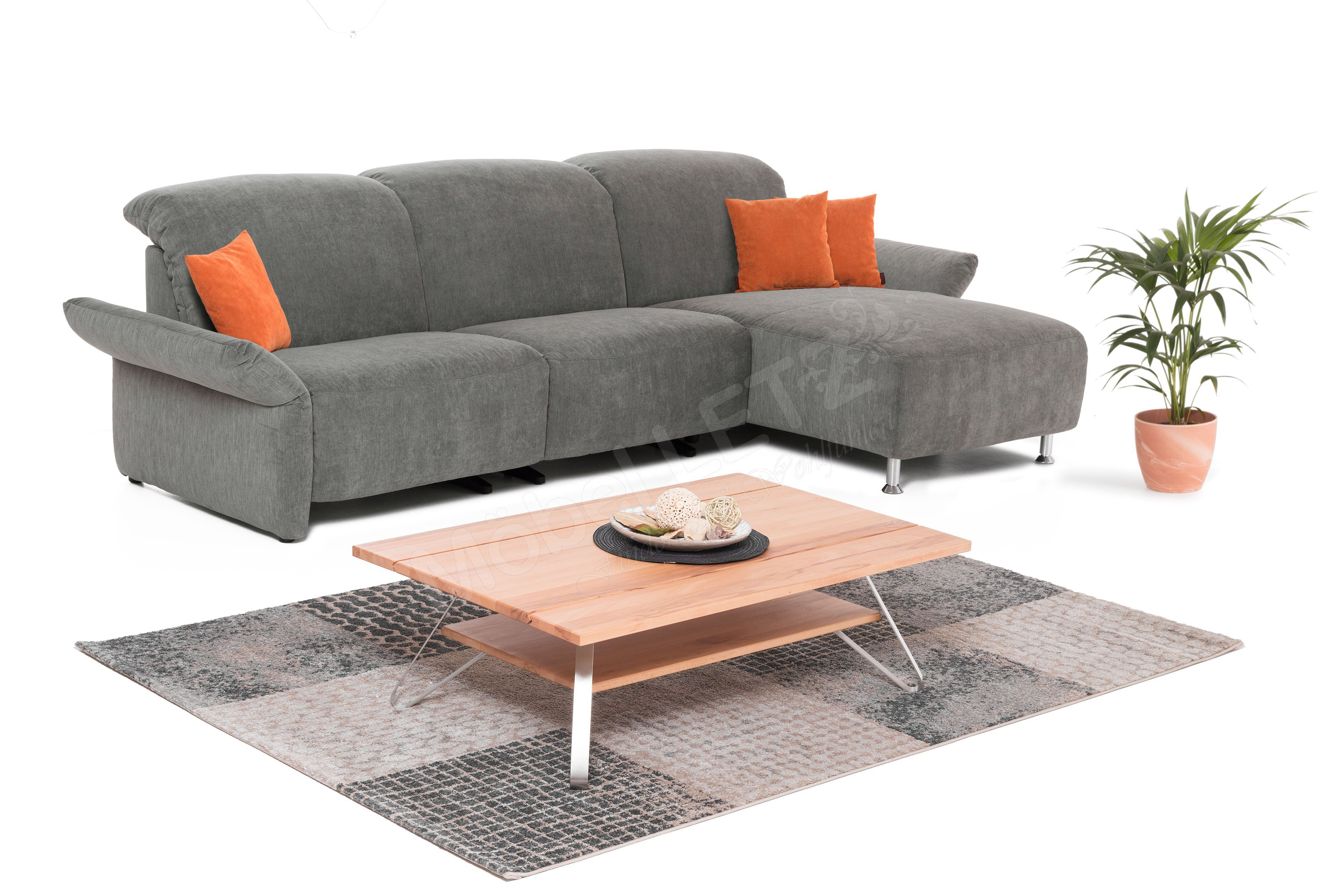 k w polsterm bel cindy ecksofa grau m bel letz ihr. Black Bedroom Furniture Sets. Home Design Ideas