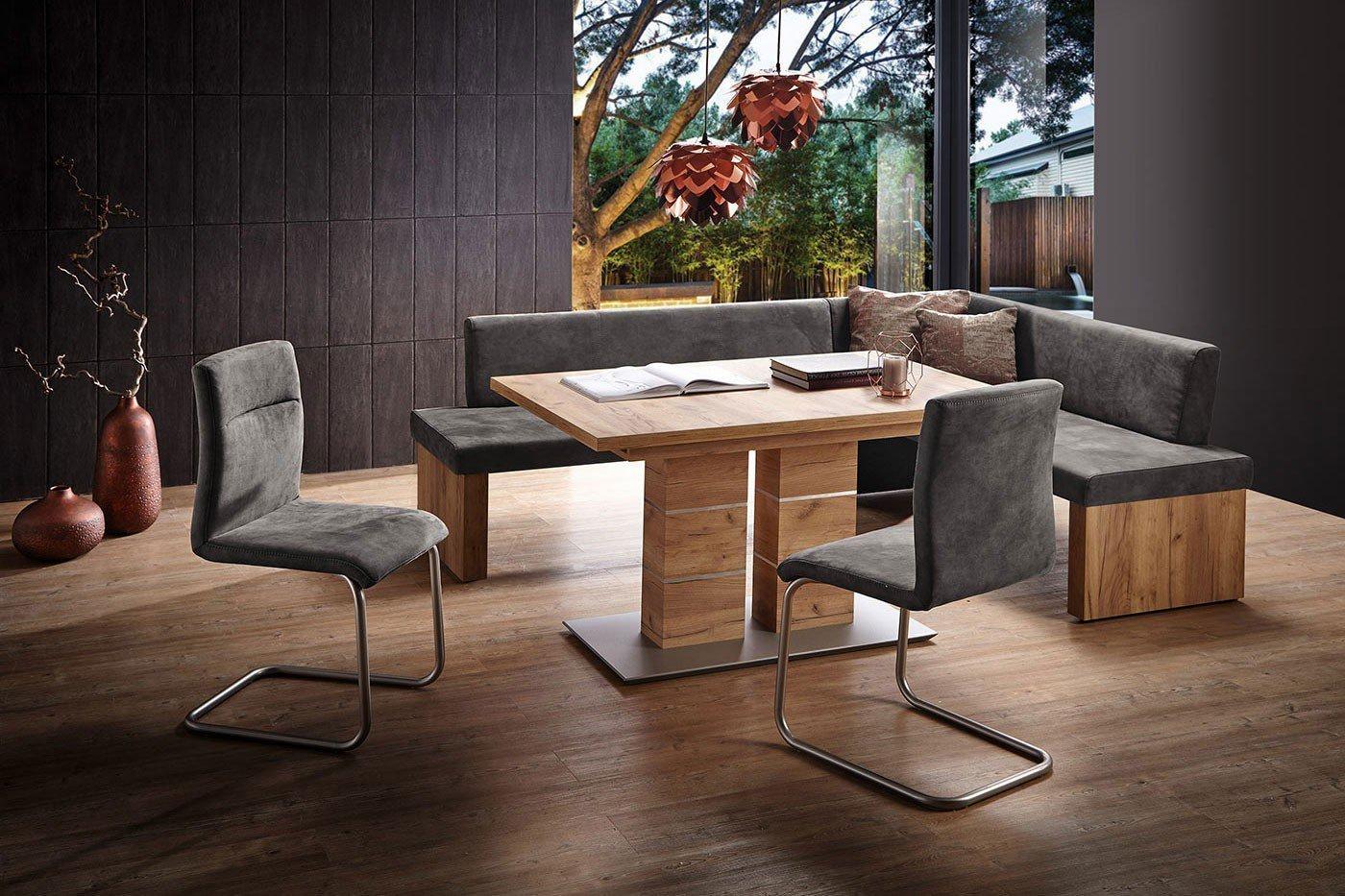 k w eckbank bonanza mit grauem microfaserbezug m bel. Black Bedroom Furniture Sets. Home Design Ideas