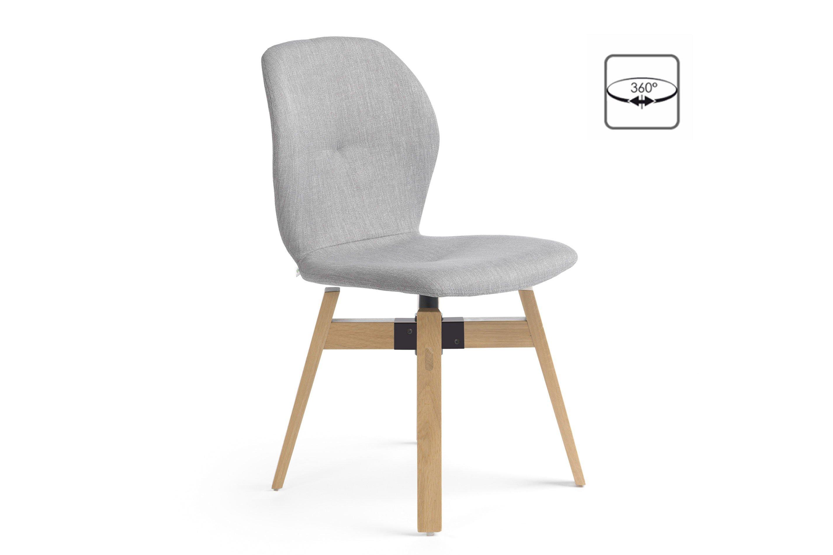 mobitec stuhl mood 91 uni eiche silver mit drehbarem sitz m bel letz ihr online shop. Black Bedroom Furniture Sets. Home Design Ideas