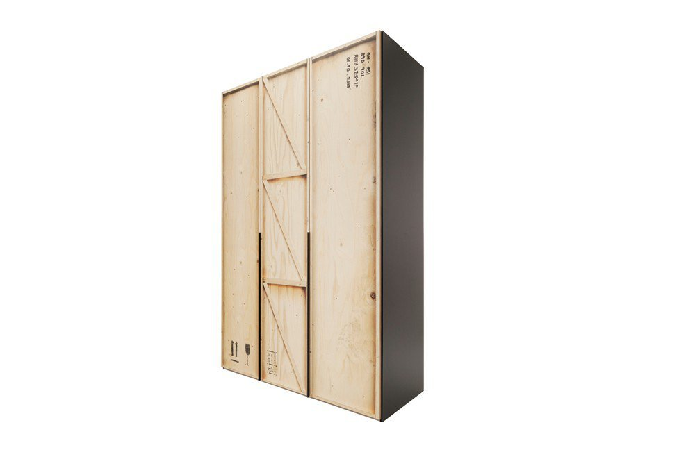 kleiderschrank caja express m bel 3 t rig m bel letz ihr online shop. Black Bedroom Furniture Sets. Home Design Ideas
