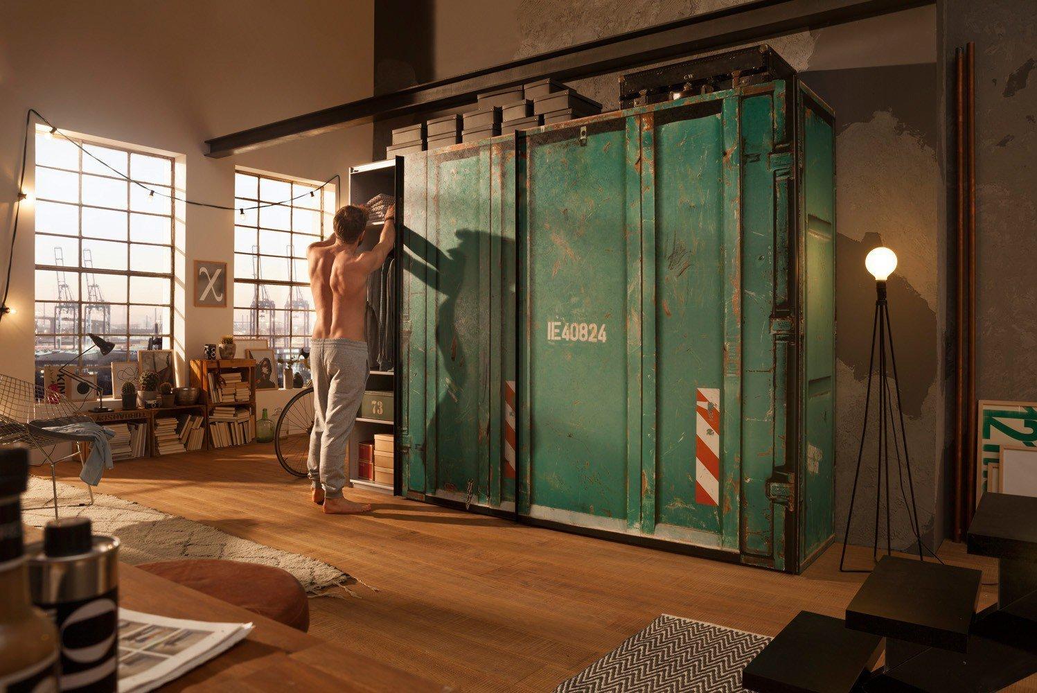 express cargo schrank containerdesign gr n m bel letz ihr online shop. Black Bedroom Furniture Sets. Home Design Ideas