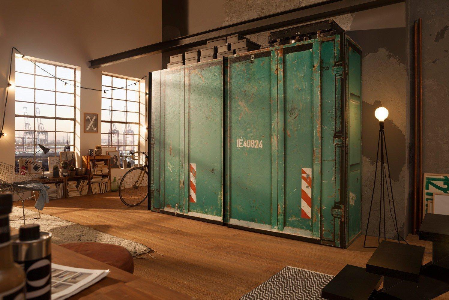 express cargo kleiderschrank container gr n m bel letz ihr online shop. Black Bedroom Furniture Sets. Home Design Ideas