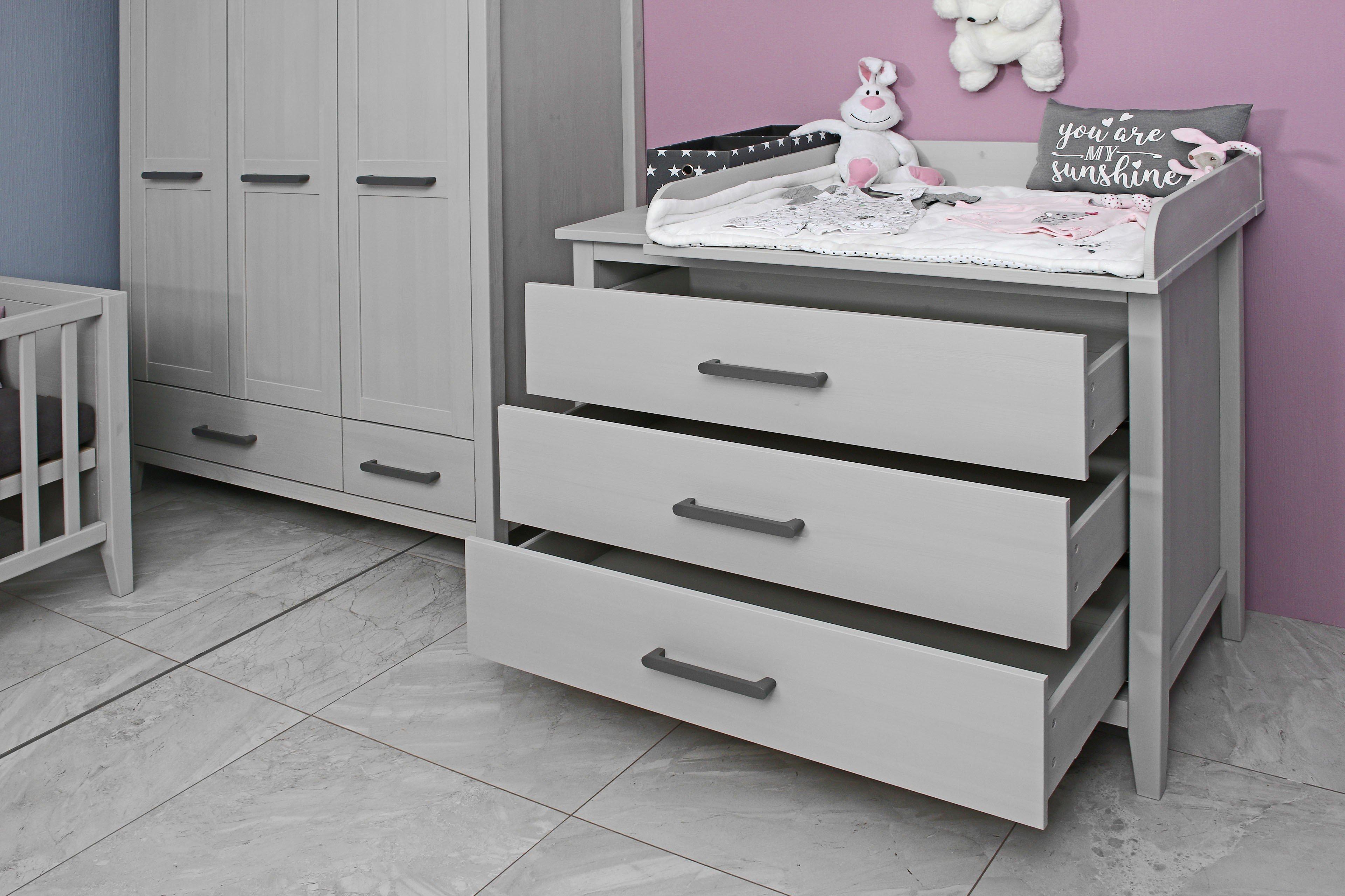 Welle Sylt Babyzimmer Kiefer grau - 5-teilig | Möbel Letz - Ihr ...
