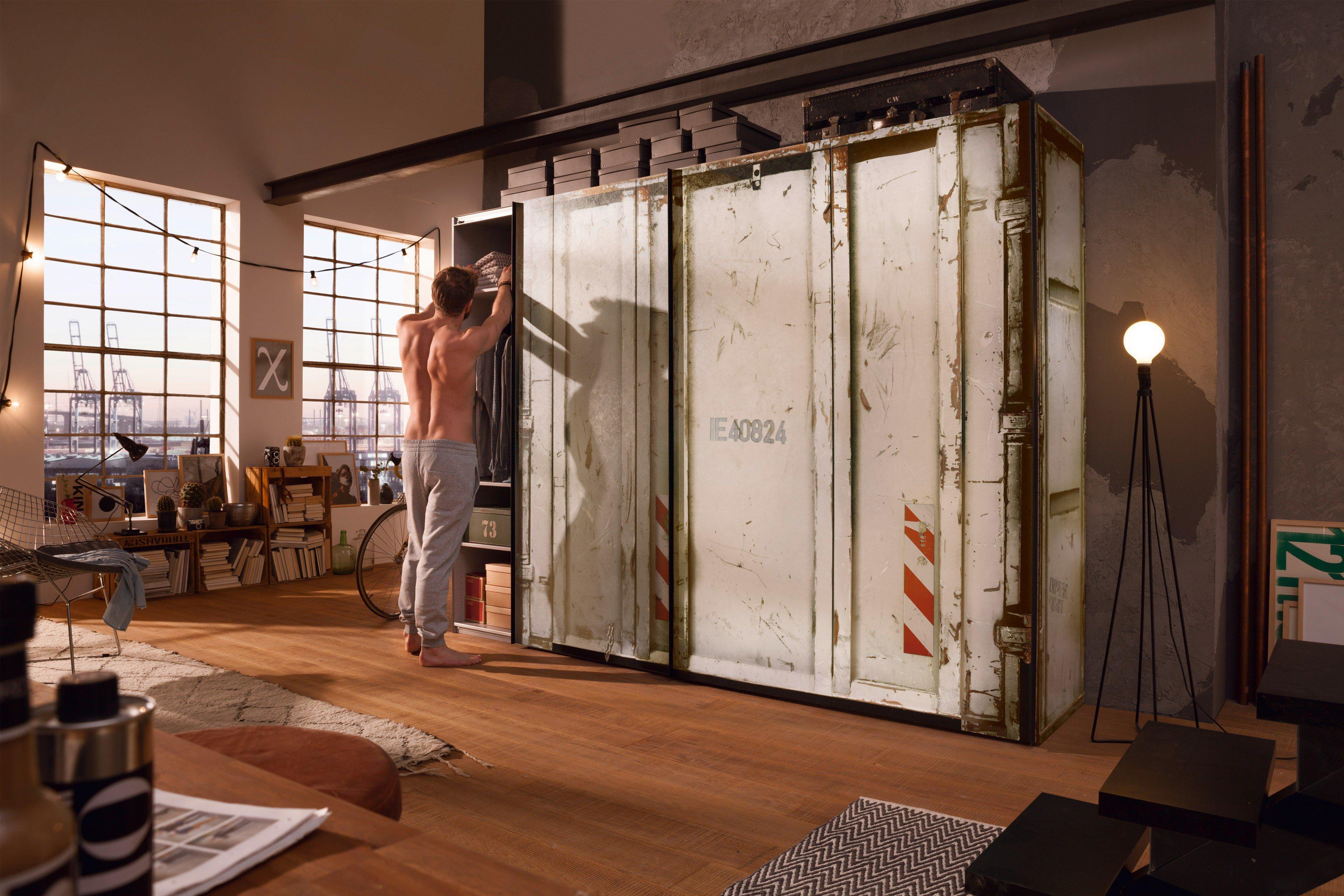 express m bel cargo schrank wei container m bel letz ihr online shop. Black Bedroom Furniture Sets. Home Design Ideas