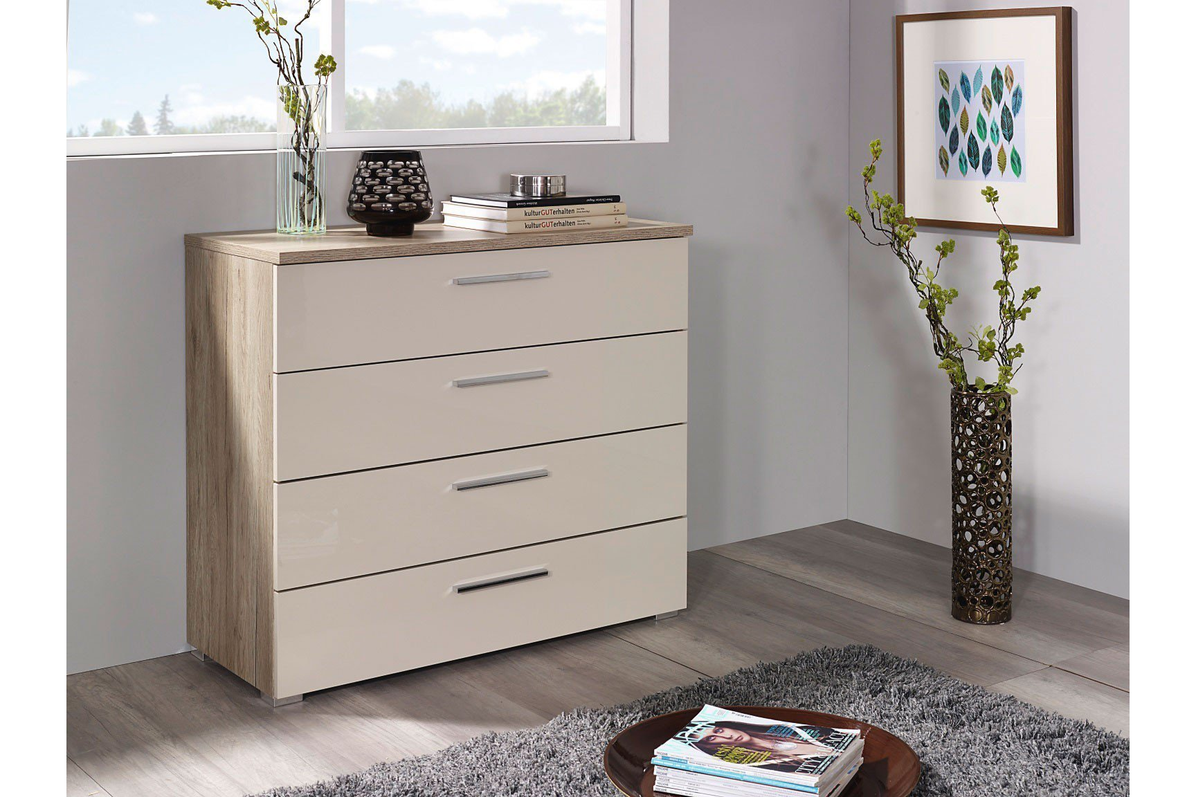 rauch kommode solo hochglanz cappuccino m bel letz ihr online shop. Black Bedroom Furniture Sets. Home Design Ideas