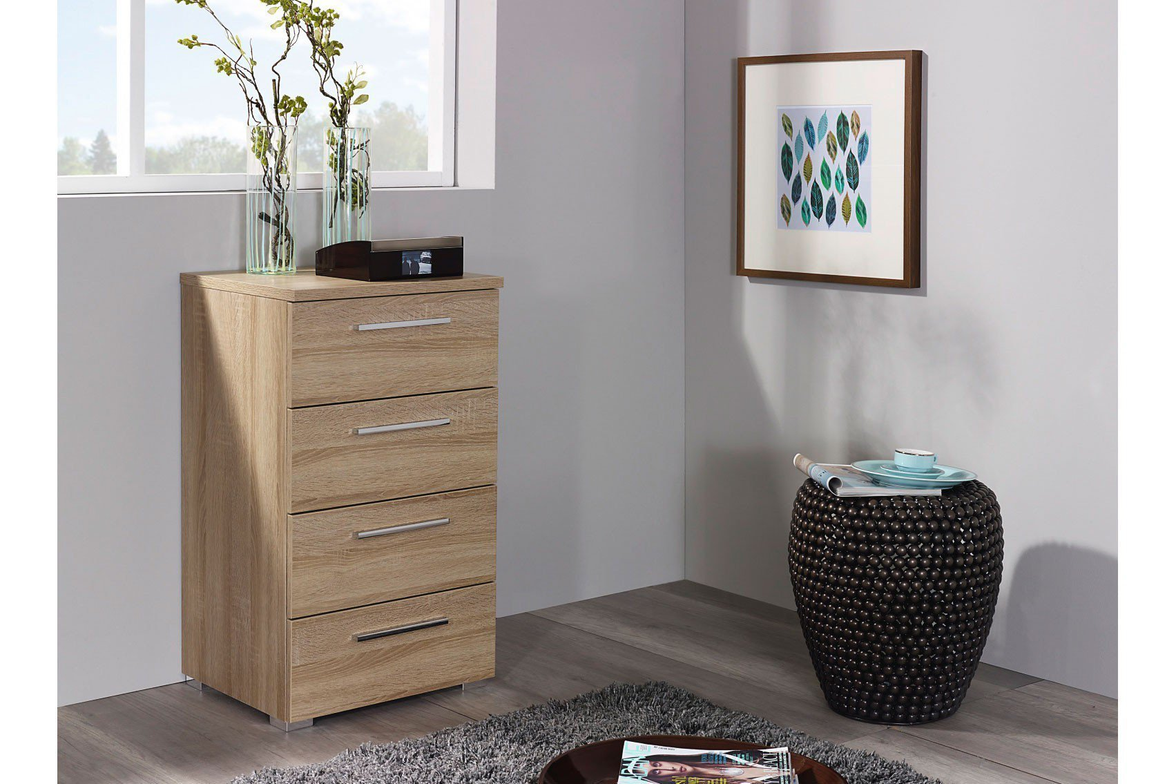 rauch solo kommode schmal eiche nachbildung m bel letz ihr online shop. Black Bedroom Furniture Sets. Home Design Ideas