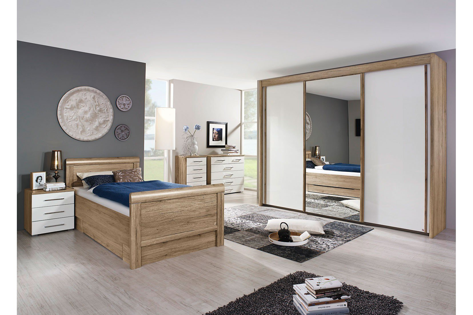 rauch solo komfortbett mit schubkasten eiche m bel letz ihr online shop. Black Bedroom Furniture Sets. Home Design Ideas