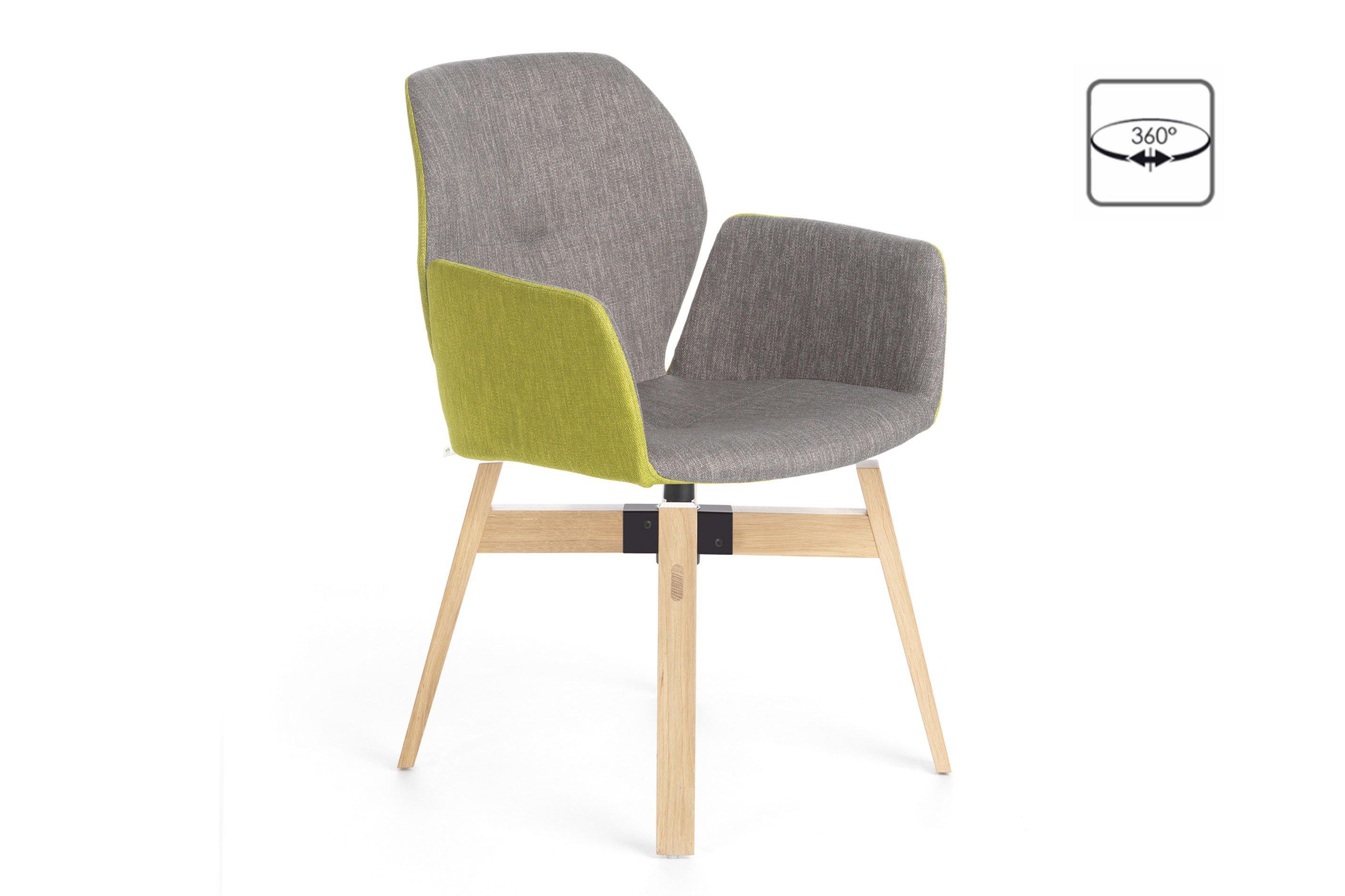 mobitec stuhl mood 95 bi grey lime eiche 360 drehbar m bel letz ihr online shop. Black Bedroom Furniture Sets. Home Design Ideas