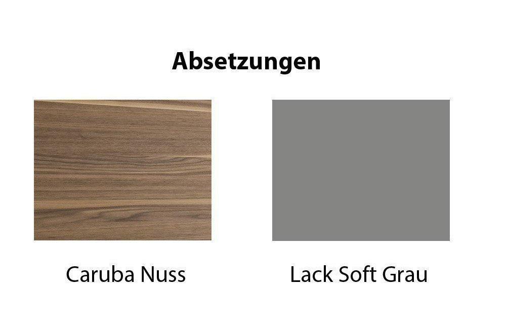 Kito Von Loddenkemper   Sideboard Weiß/ Caruba Nuss