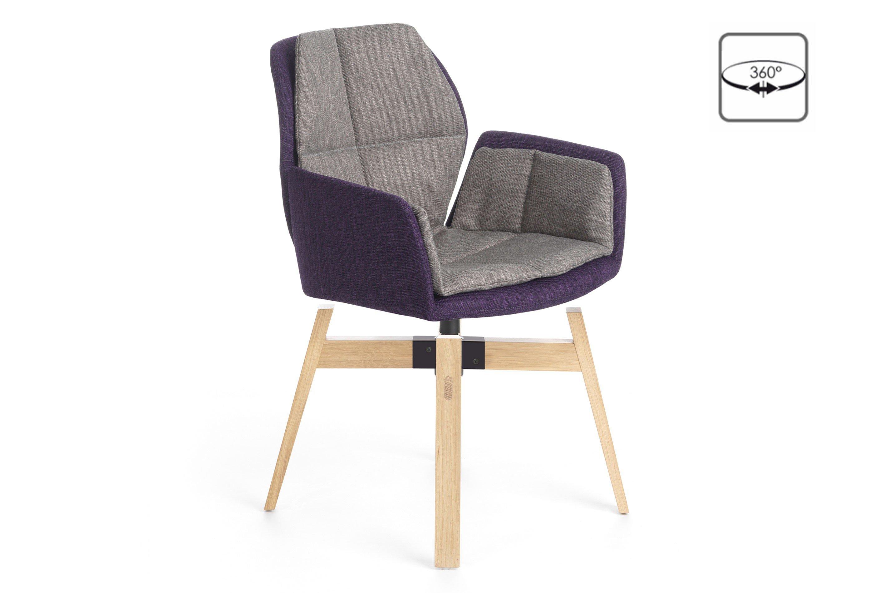mobitec stuhl mood 96 bi eiche grey lila drehbar m bel letz ihr online shop. Black Bedroom Furniture Sets. Home Design Ideas