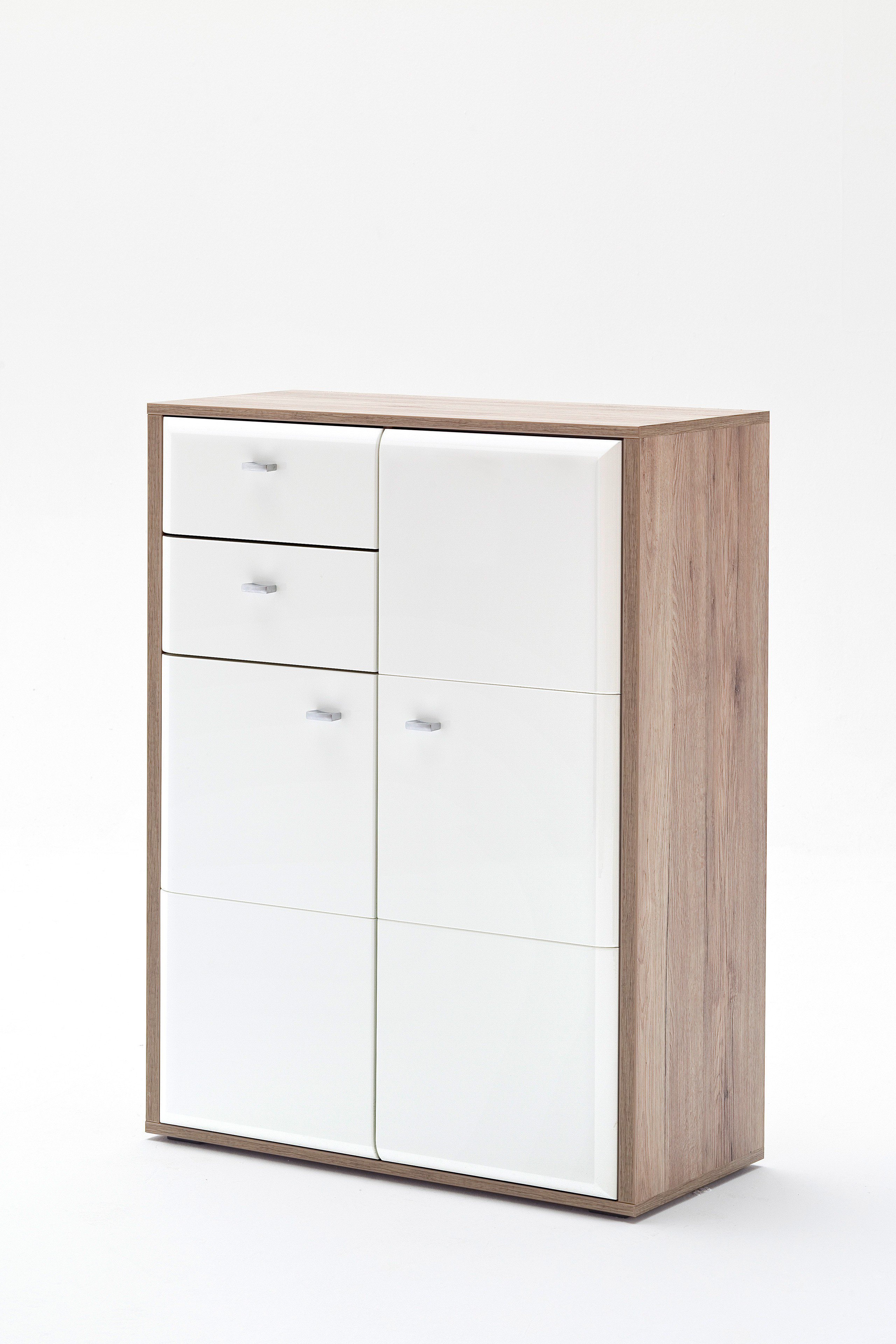 Garderobenkommode Comino In Weiß Eiche Mca Furniture Möbel