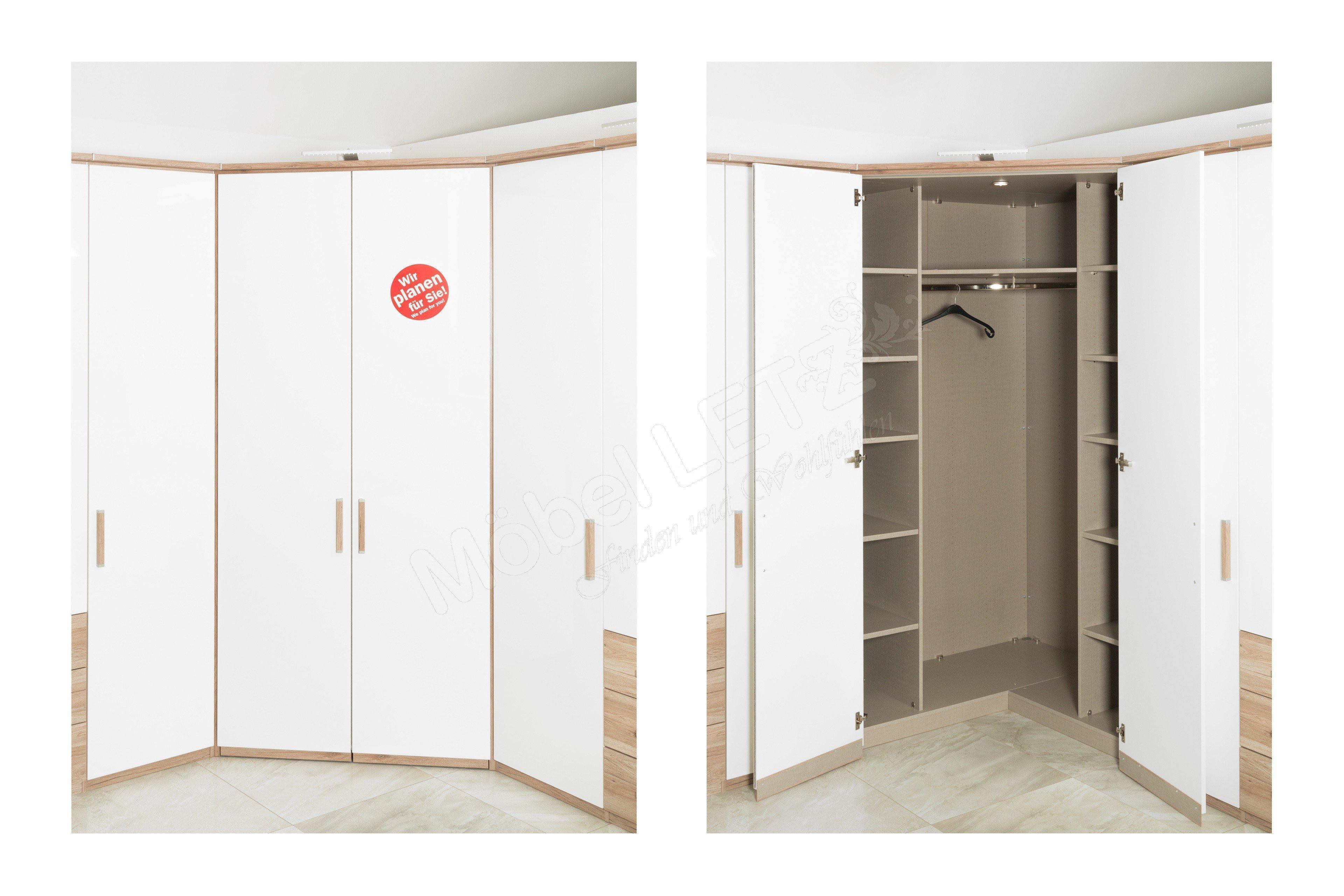 rauch dimension 4 eckschrank gro eiche wei m bel letz ihr online shop. Black Bedroom Furniture Sets. Home Design Ideas
