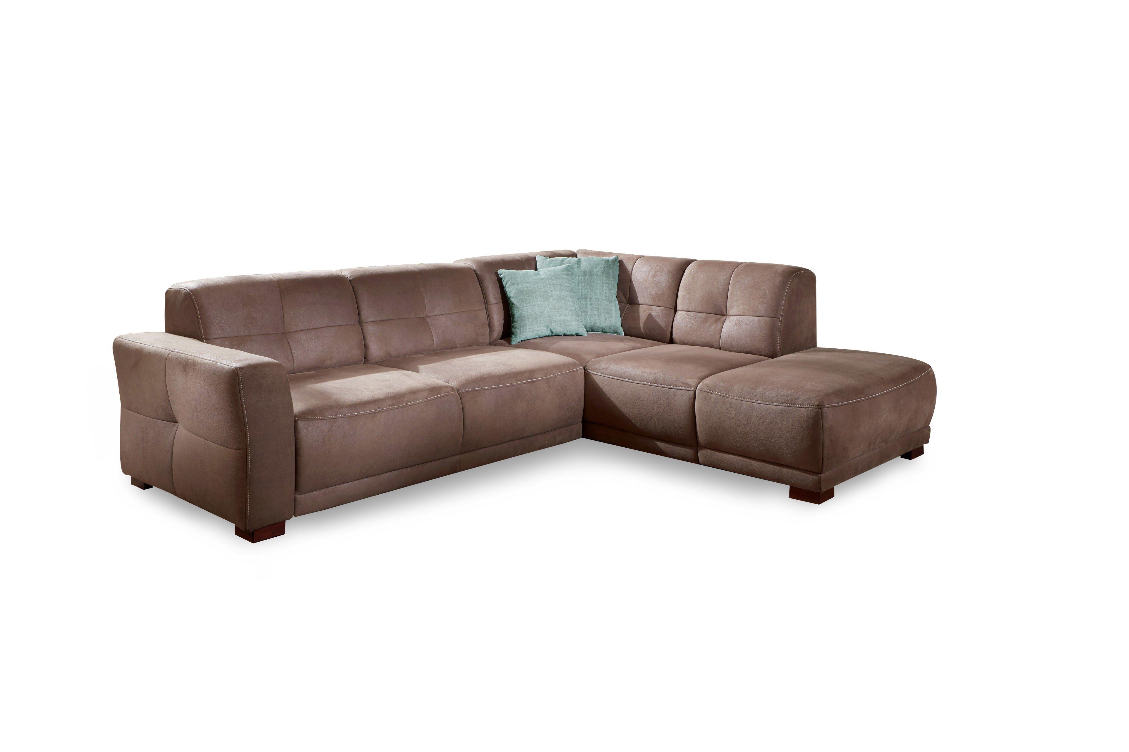 sit more home basic mondeo ecksofa in braun m bel letz ihr online shop. Black Bedroom Furniture Sets. Home Design Ideas