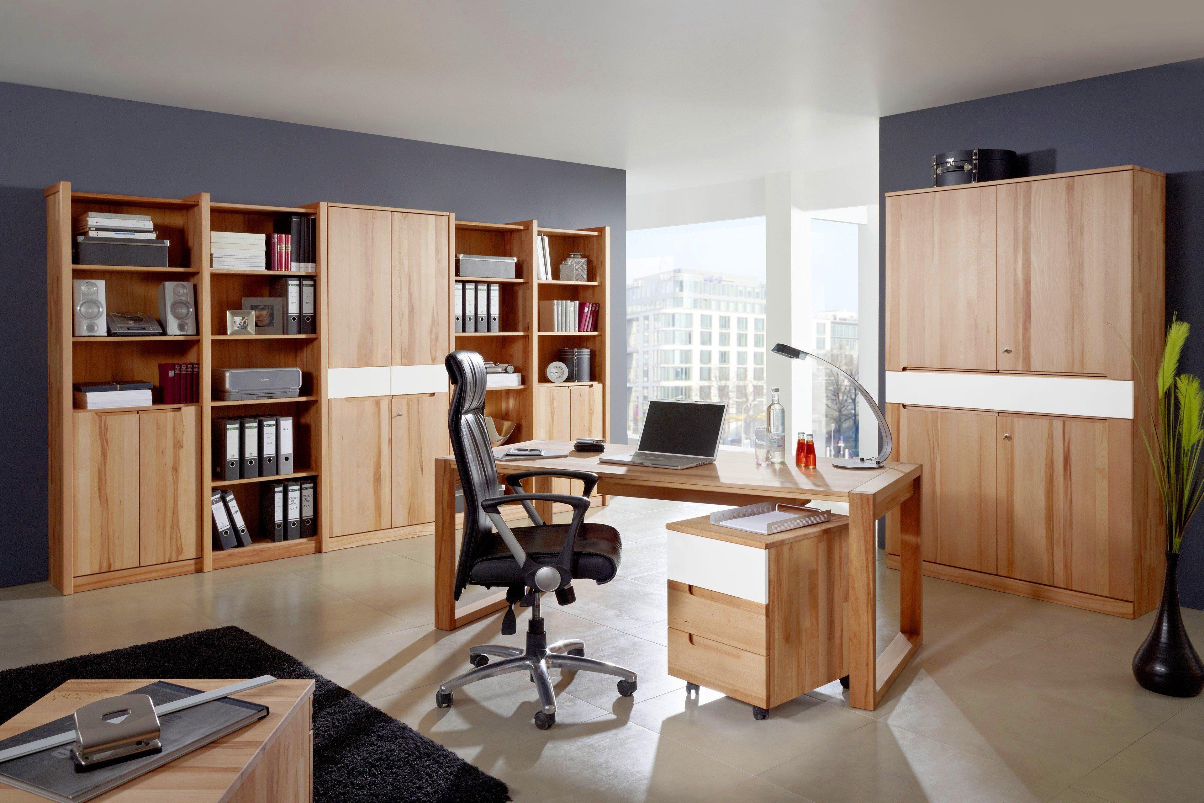 Attraktiv Schreibtisch Mit Rollcontainer Das Beste Von Arcona Von Gradel - & Kernbuche-weiß