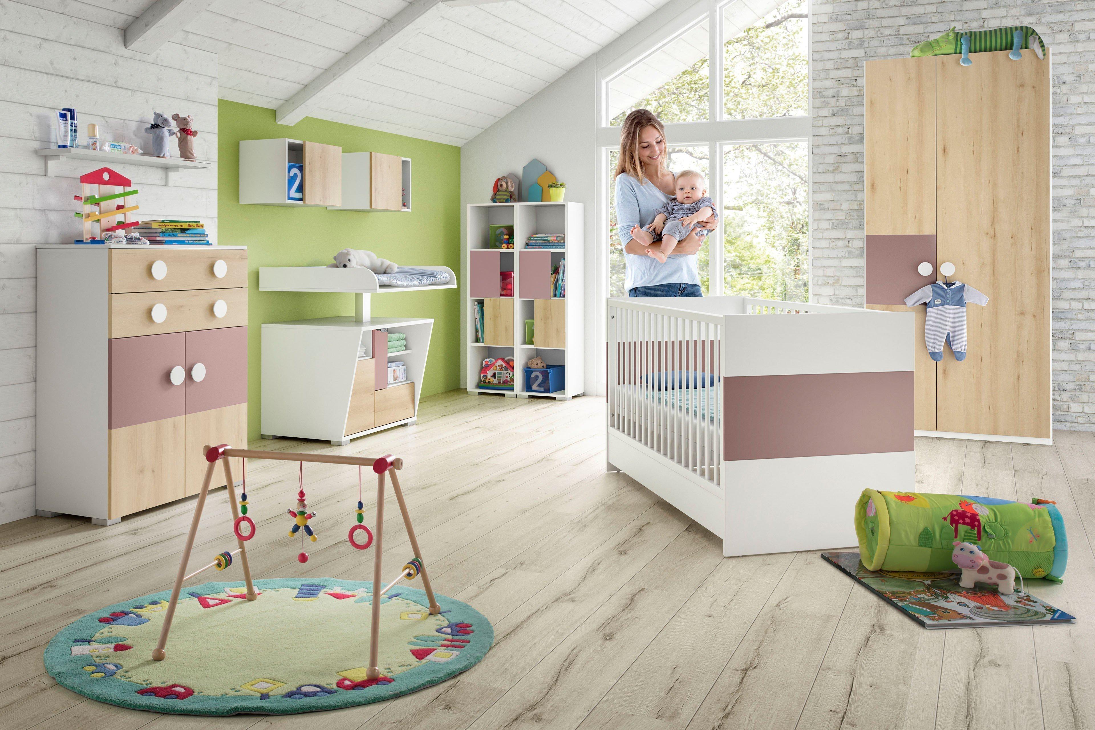 Babyzimmer set buche  Röhr-Bush pixxel.baby - Babyzimmer rosa - weiß - Buche | Möbel Letz ...