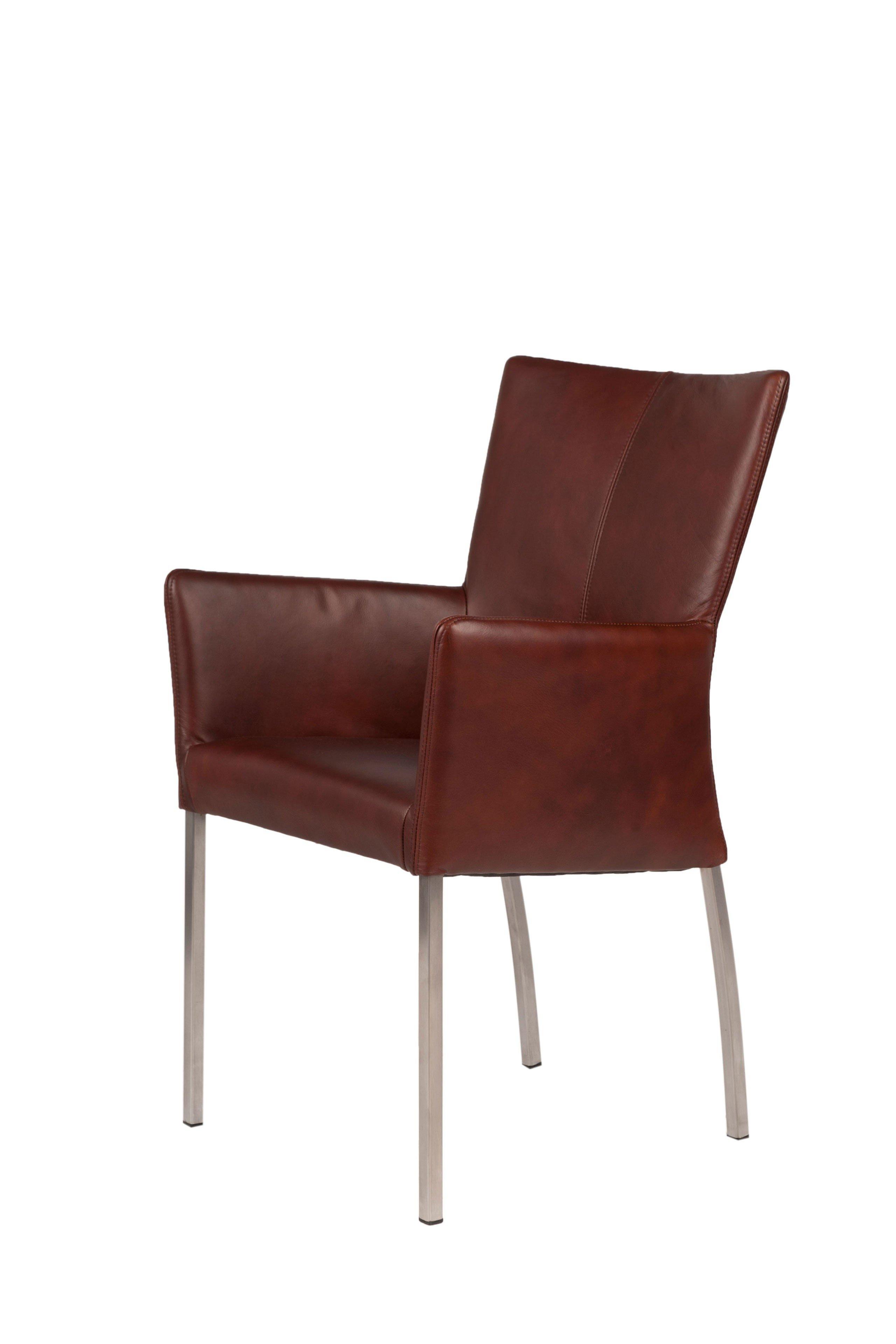 sit m bel stuhl roma leder in dark tan m bel letz ihr online shop. Black Bedroom Furniture Sets. Home Design Ideas