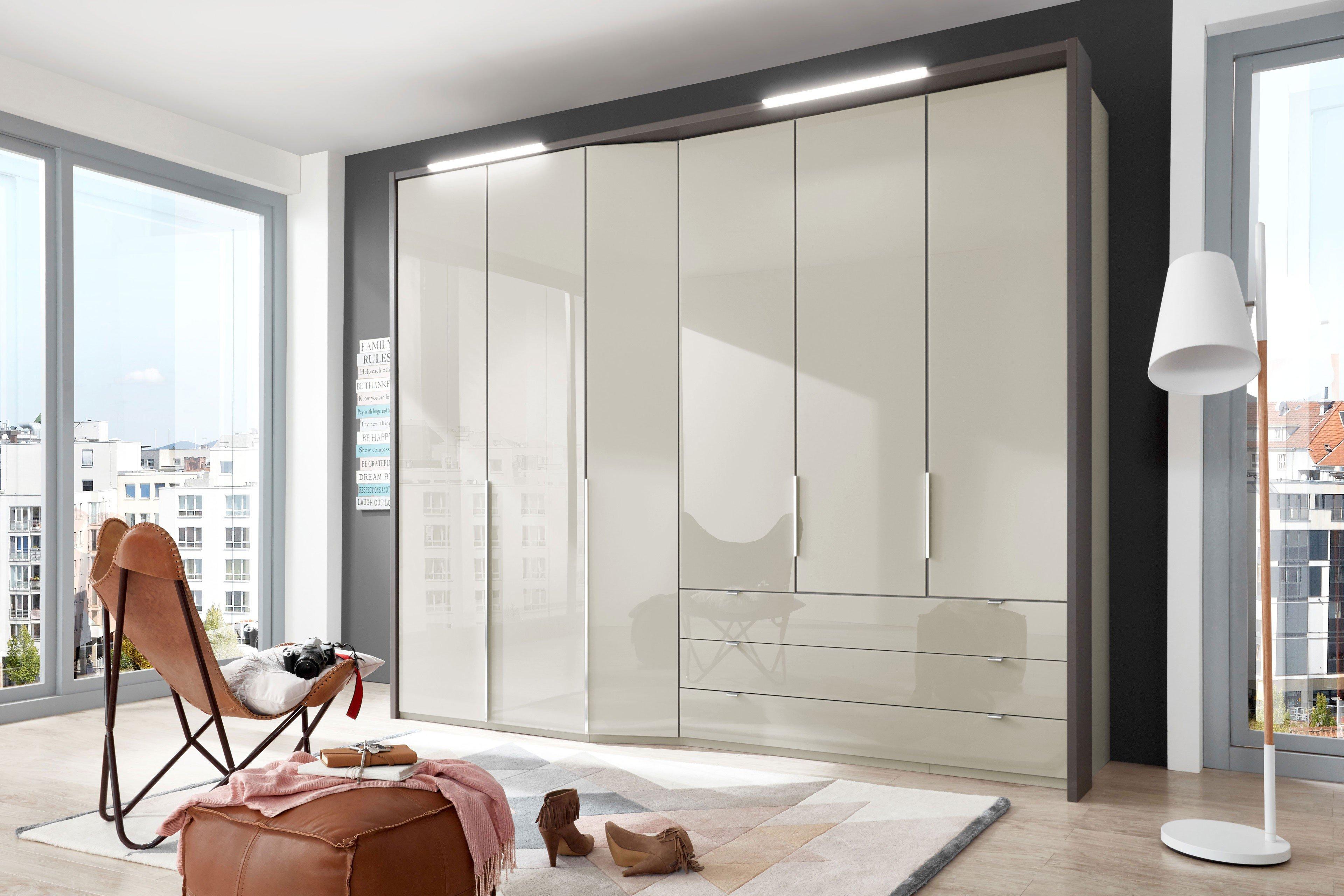 Amazing Einfache Dekoration Und Mobel Individuelle Schraenke Made In Germany 2 #6: Cayenne Von Wiemann - Funktionsschrank Glas Kieselgrau