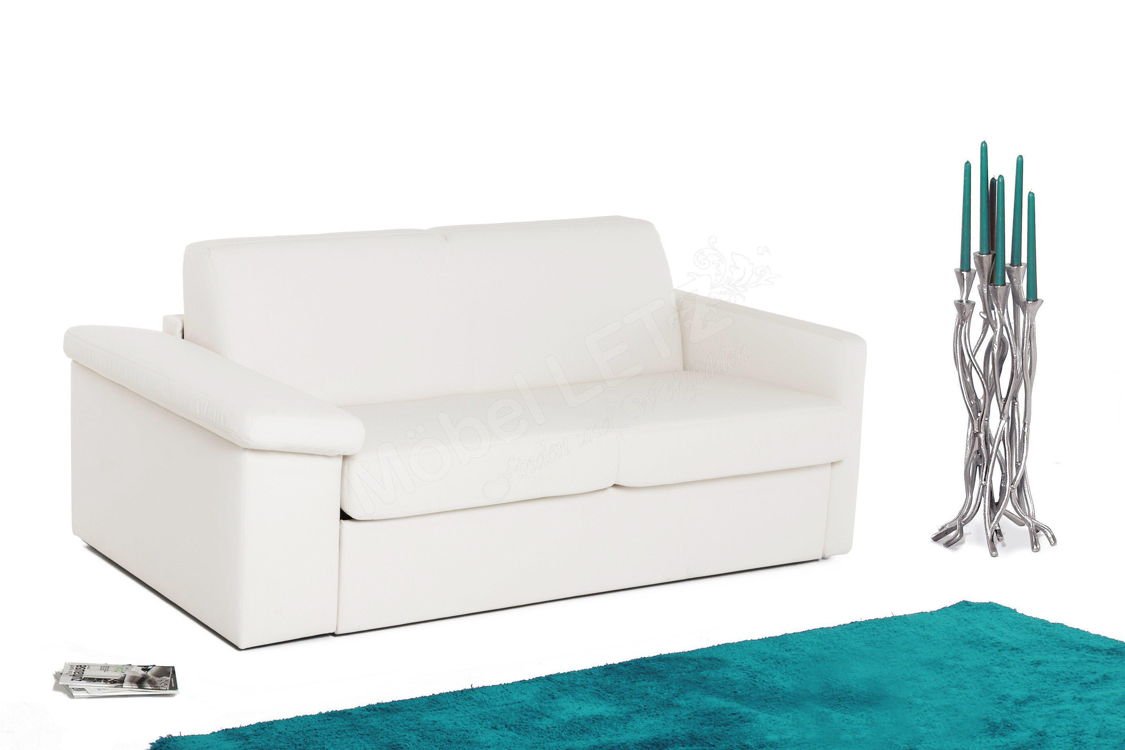 sedaro schlafsofa pronto in wei mit staufach in armlehne m bel letz ihr online shop. Black Bedroom Furniture Sets. Home Design Ideas