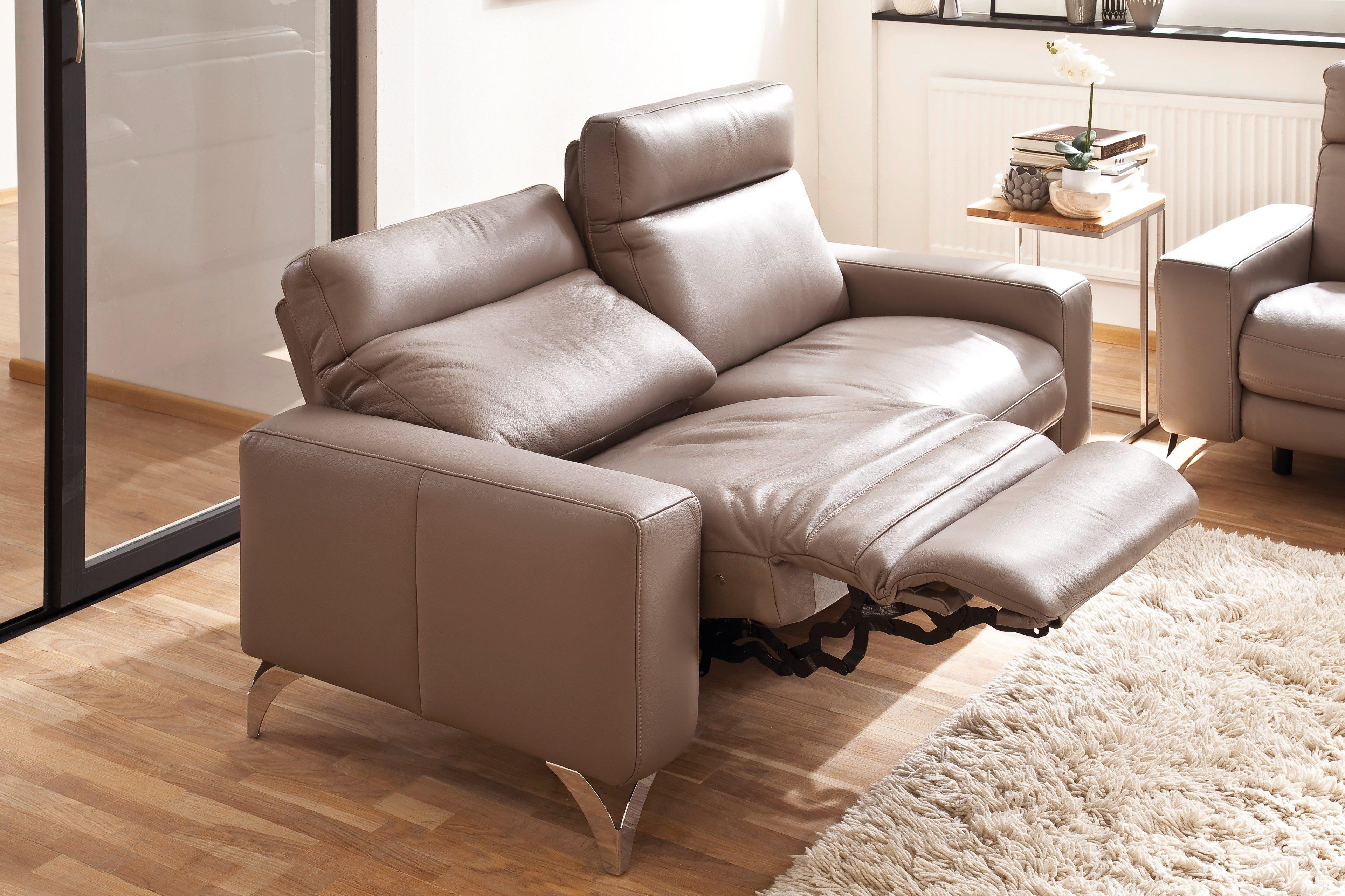 Polsteria home comfort Caspian Ledergarnitur beige | Möbel Letz ...