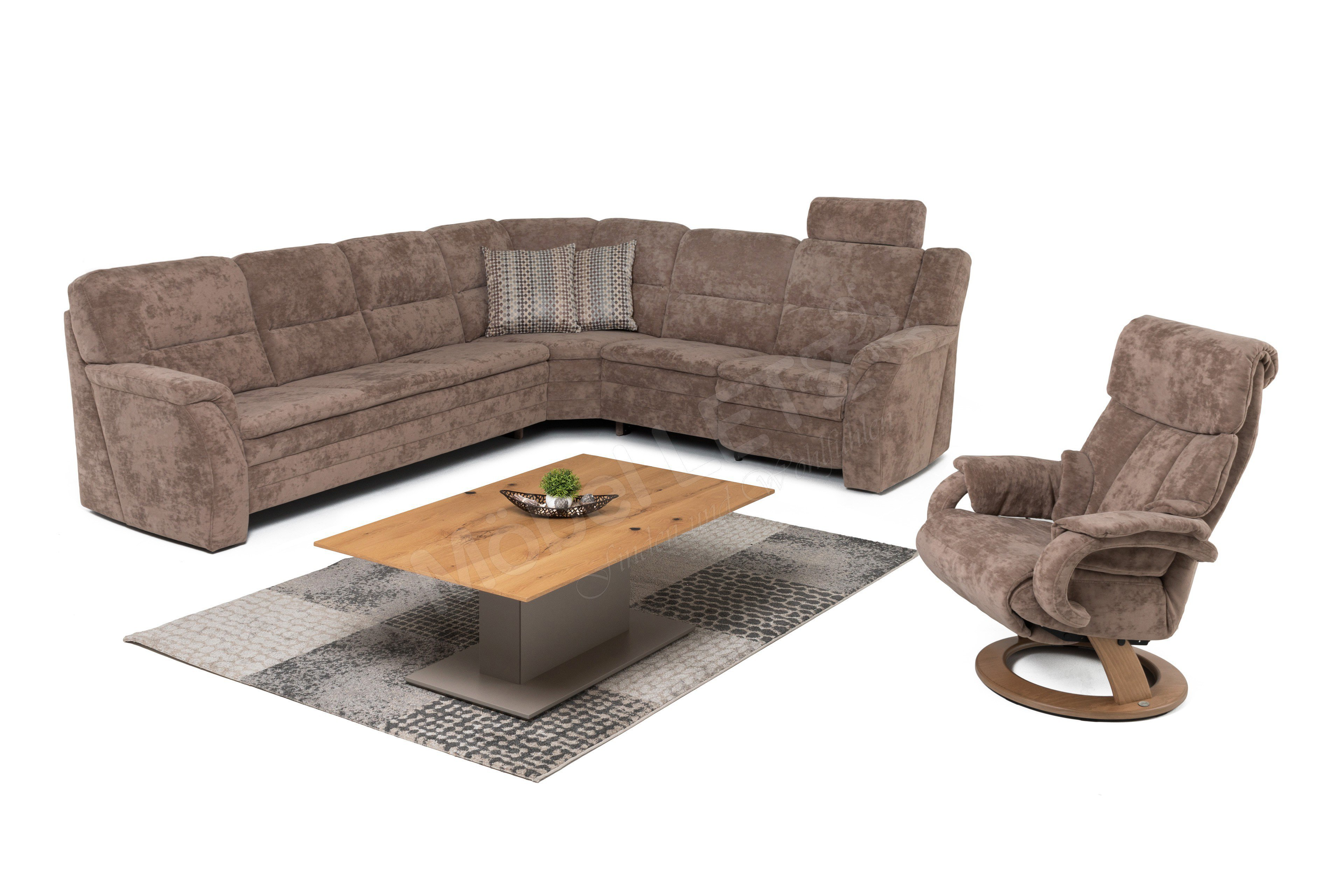 himolla polsterm bel 1102 polstergarnitur in braun m bel letz ihr online shop. Black Bedroom Furniture Sets. Home Design Ideas