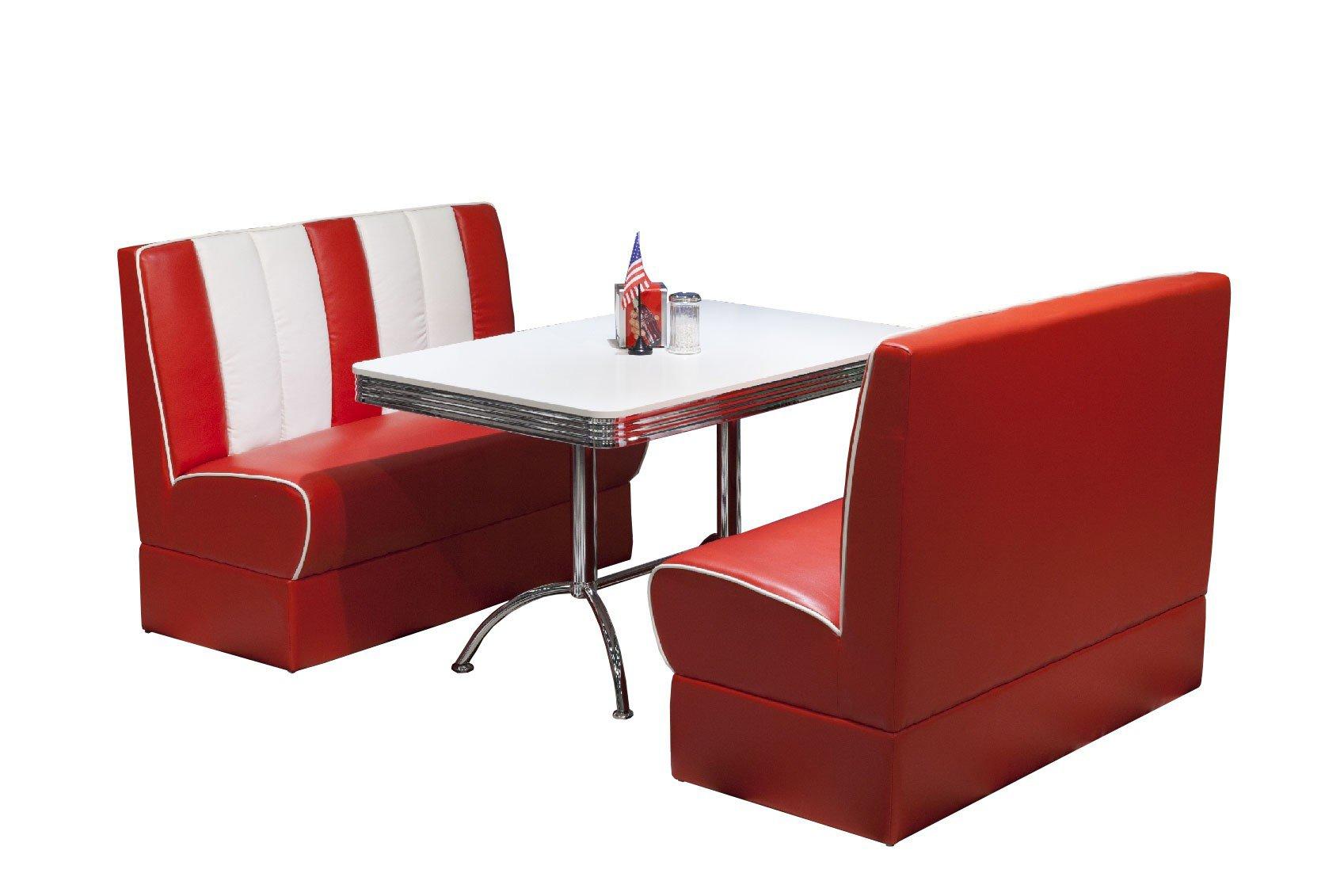 american diner esszimmer in rot wei von top form m bel letz ihr online shop. Black Bedroom Furniture Sets. Home Design Ideas