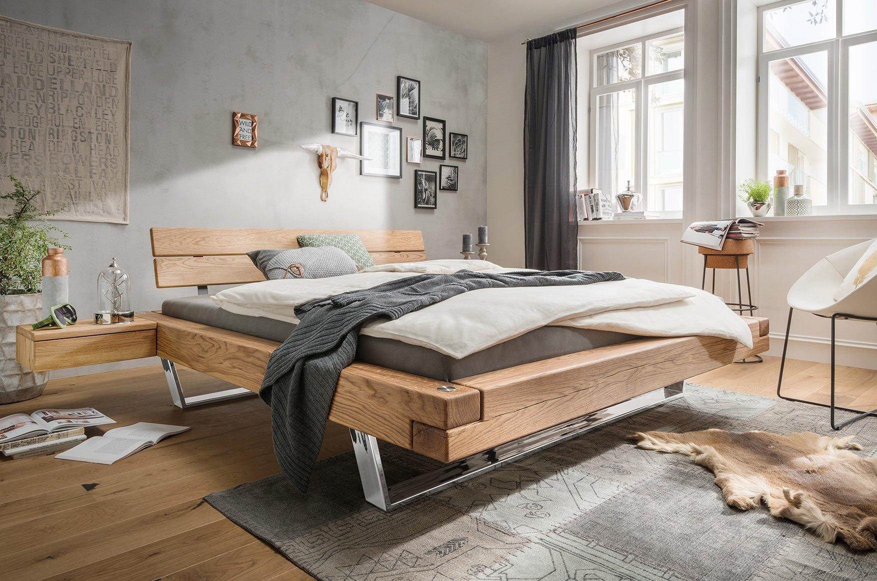 Schwebebalkenbett V Kollektion Letz Wildeiche Möbel Letz Ihr