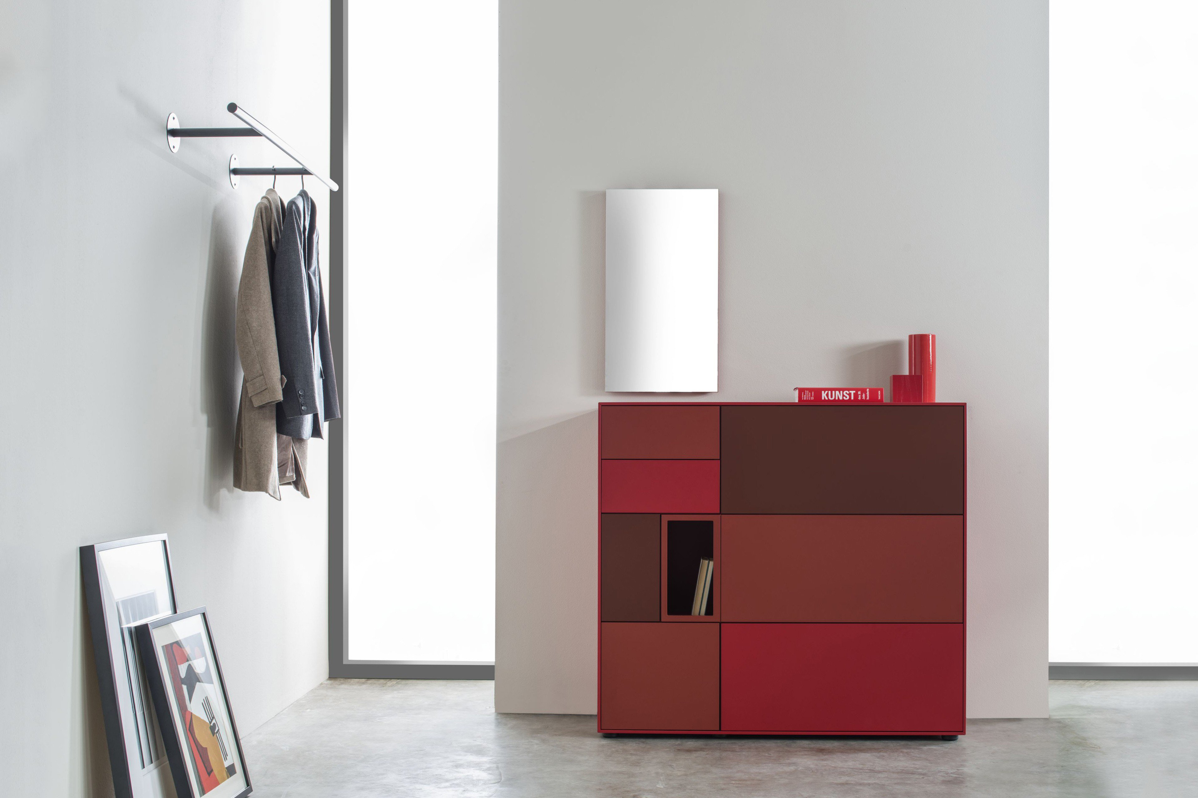 sudbrock garderobe game rot m bel letz ihr online shop. Black Bedroom Furniture Sets. Home Design Ideas