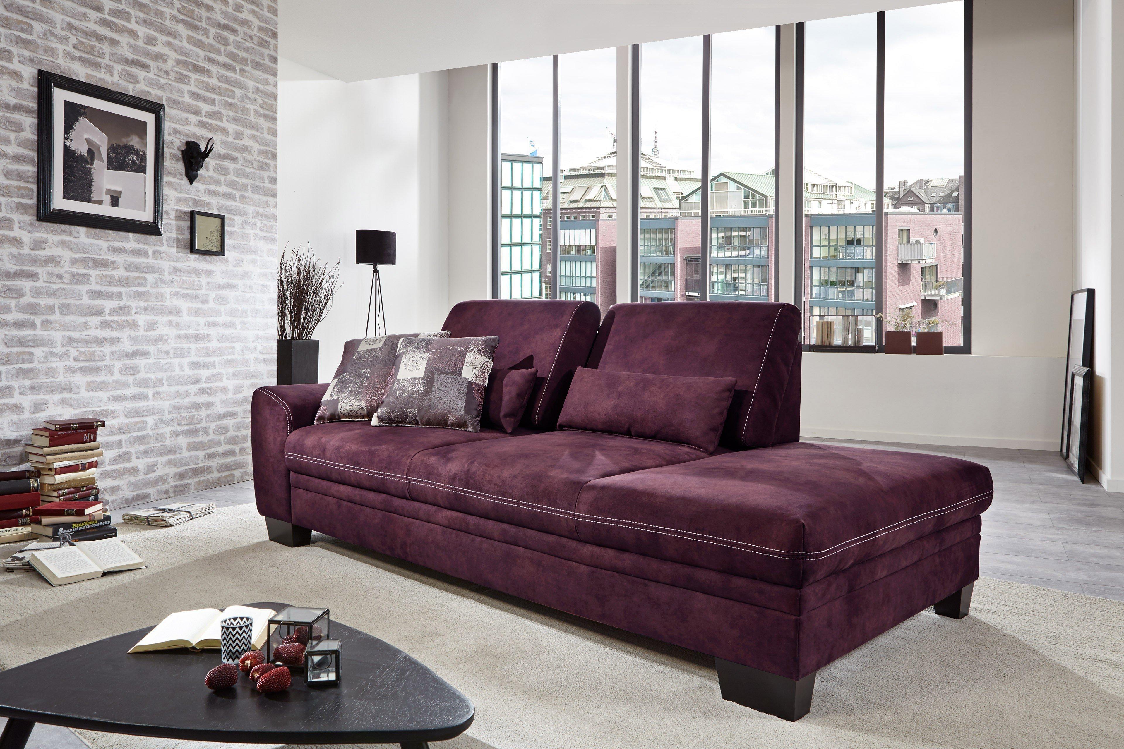 sit more home basic husum recamiere lila m bel letz ihr online shop. Black Bedroom Furniture Sets. Home Design Ideas