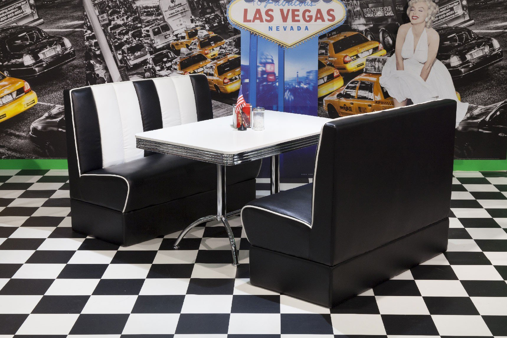 american diner esszimmer in schwarz wei von top form. Black Bedroom Furniture Sets. Home Design Ideas