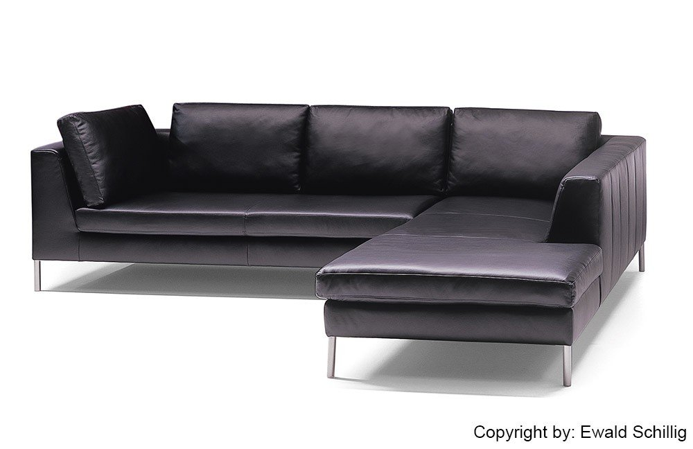 ewald schillig do mi no ledersofa in schwarz m bel letz ihr online shop. Black Bedroom Furniture Sets. Home Design Ideas