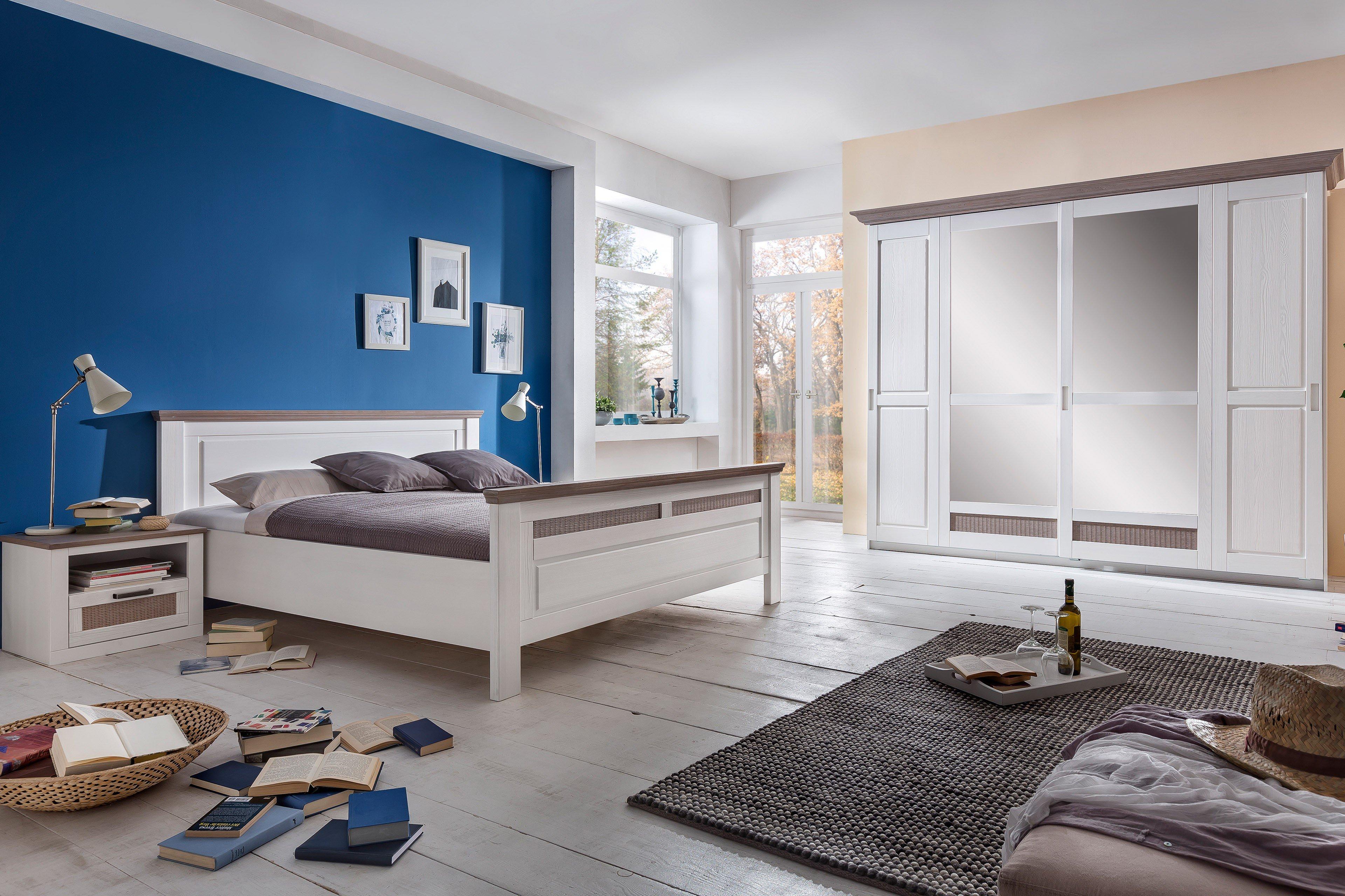Lugano Von Telmex   Komplett Schlafzimmer Pinie Weiß