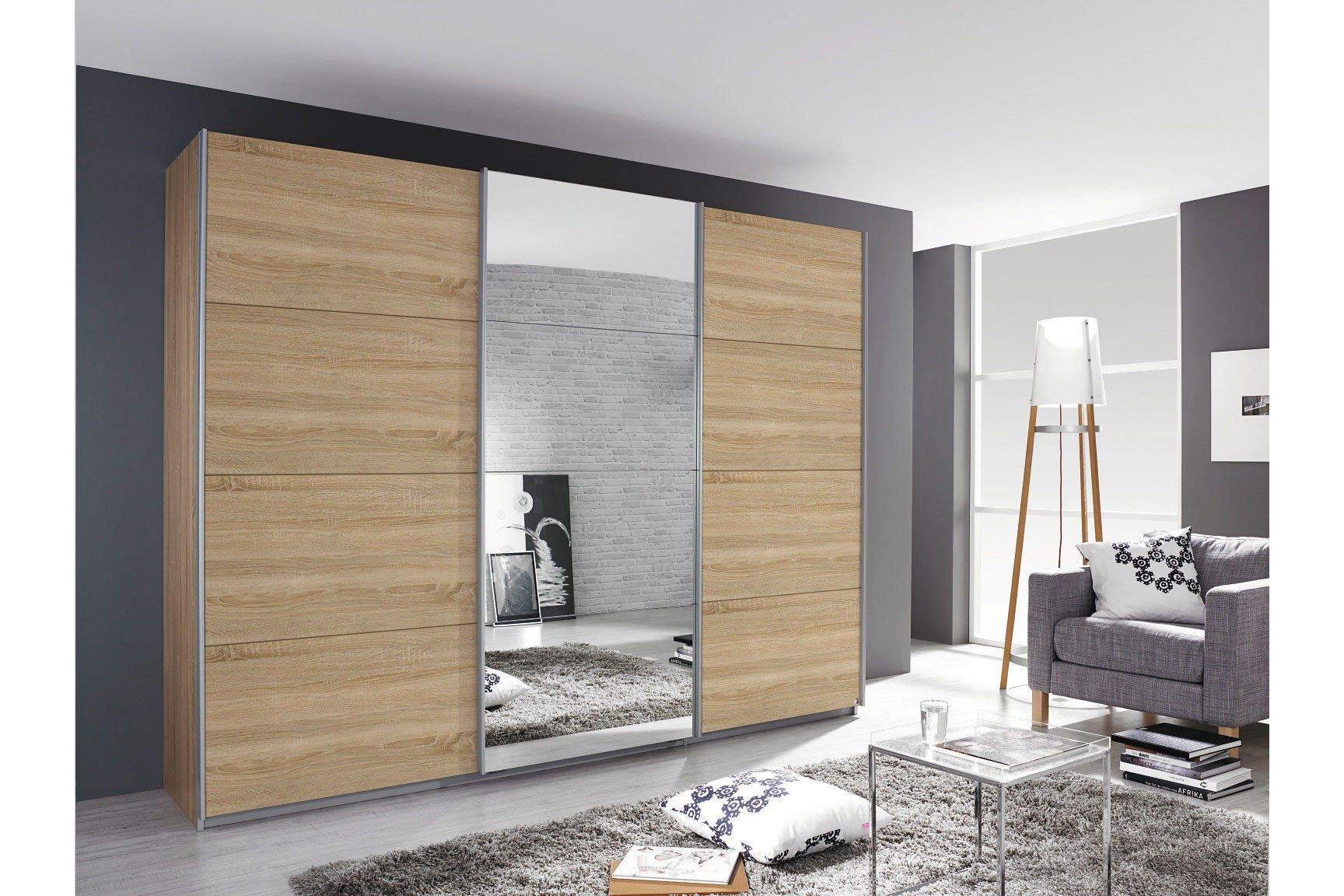 schrank rauch kulmbach grau spiegel m bel letz ihr online shop. Black Bedroom Furniture Sets. Home Design Ideas