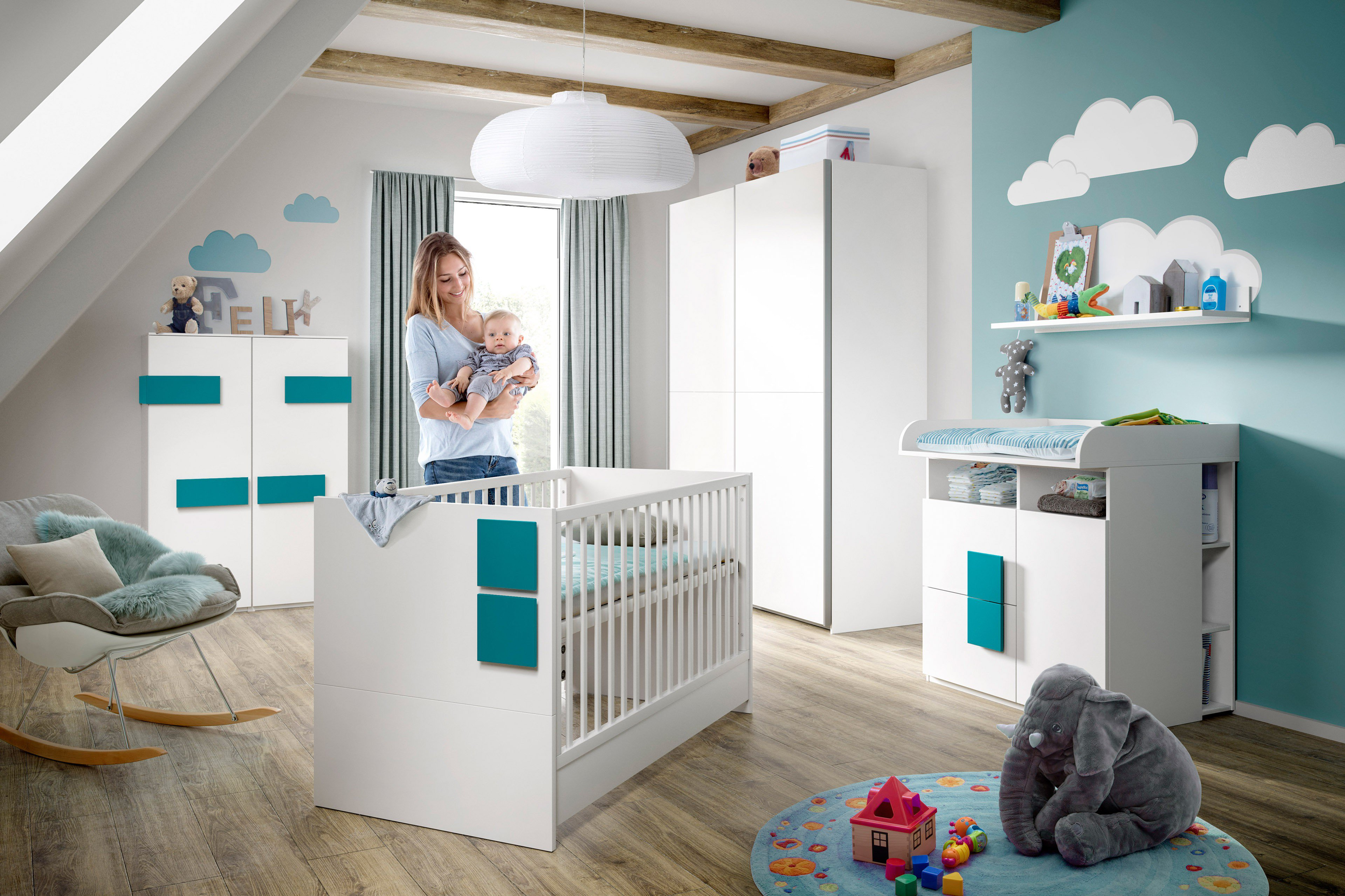 r hr bush babyzimmer mit schwebet renschrank m bel letz ihr online shop. Black Bedroom Furniture Sets. Home Design Ideas