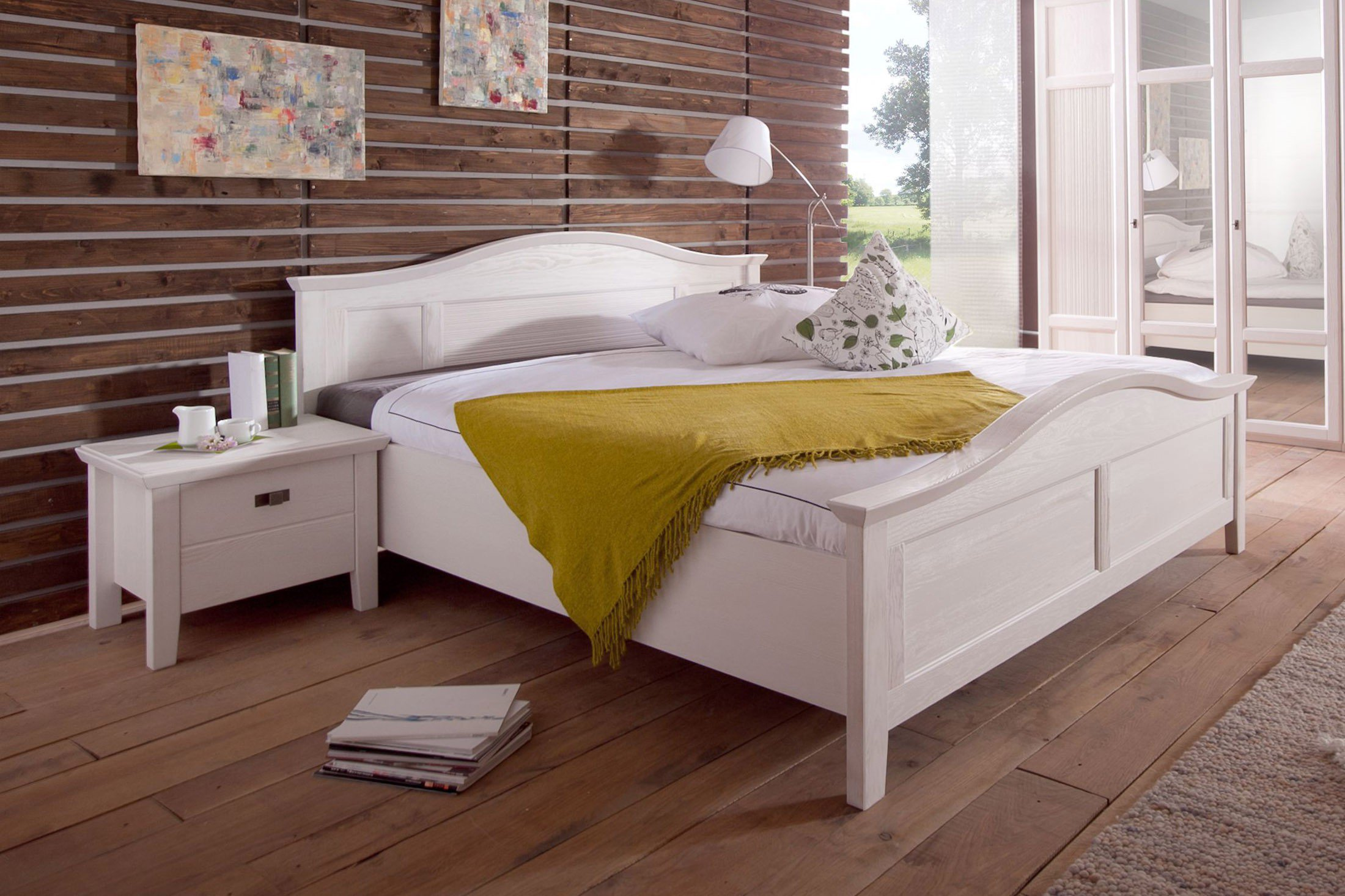 Perfekt Casa Von Telmex   Doppelbett Pinie Weiß Lackiert